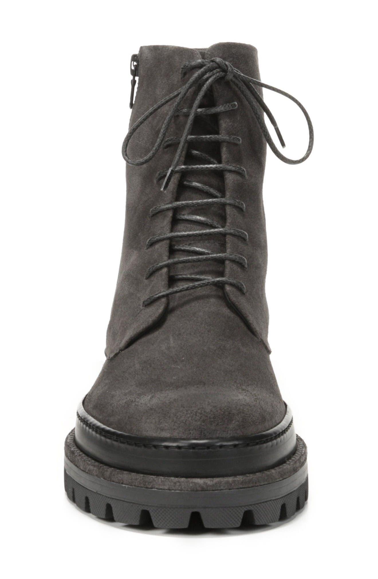 Edgar Plain Toe Boot,                             Alternate thumbnail 4, color,                             Heather Carbon