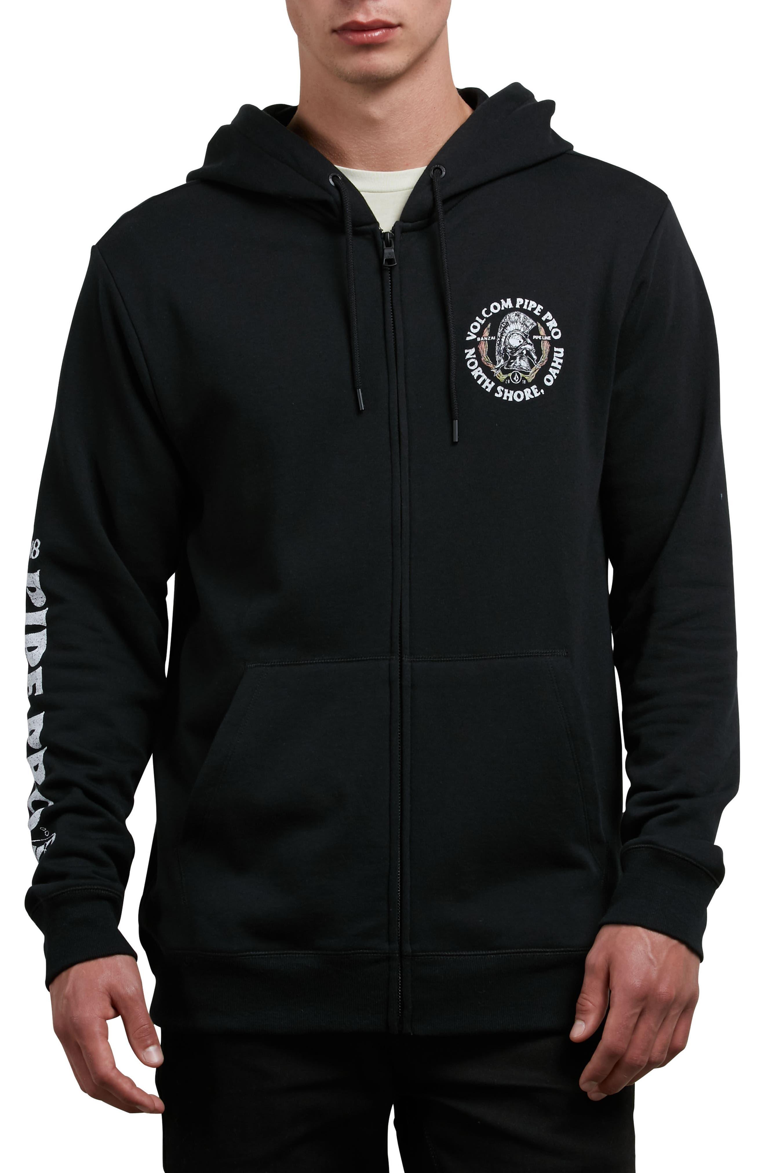 Pipe Pro Seal Graphic Zip Hoodie,                         Main,                         color, Black