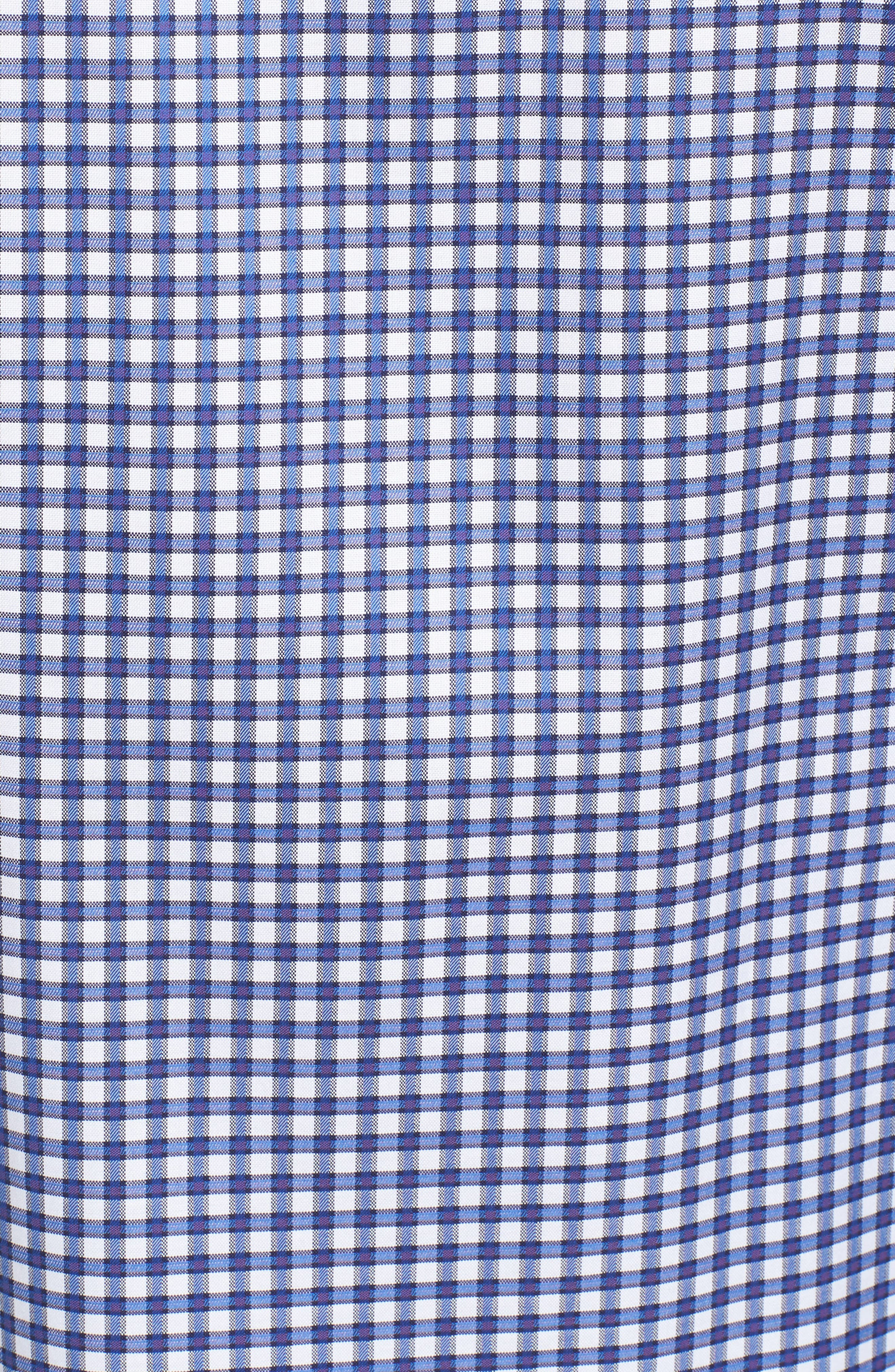 Slim Fit Check Sport Shirt,                             Alternate thumbnail 5, color,                             Classic Blue