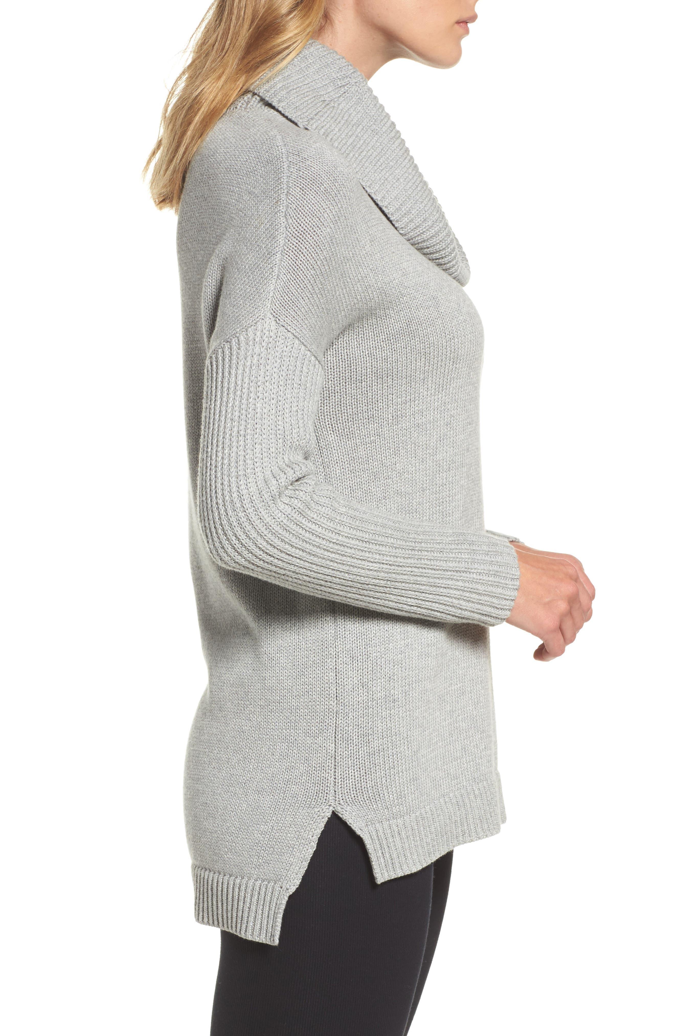 Alternate Image 3  - UGG® Cowl Neck Tunic Sweater