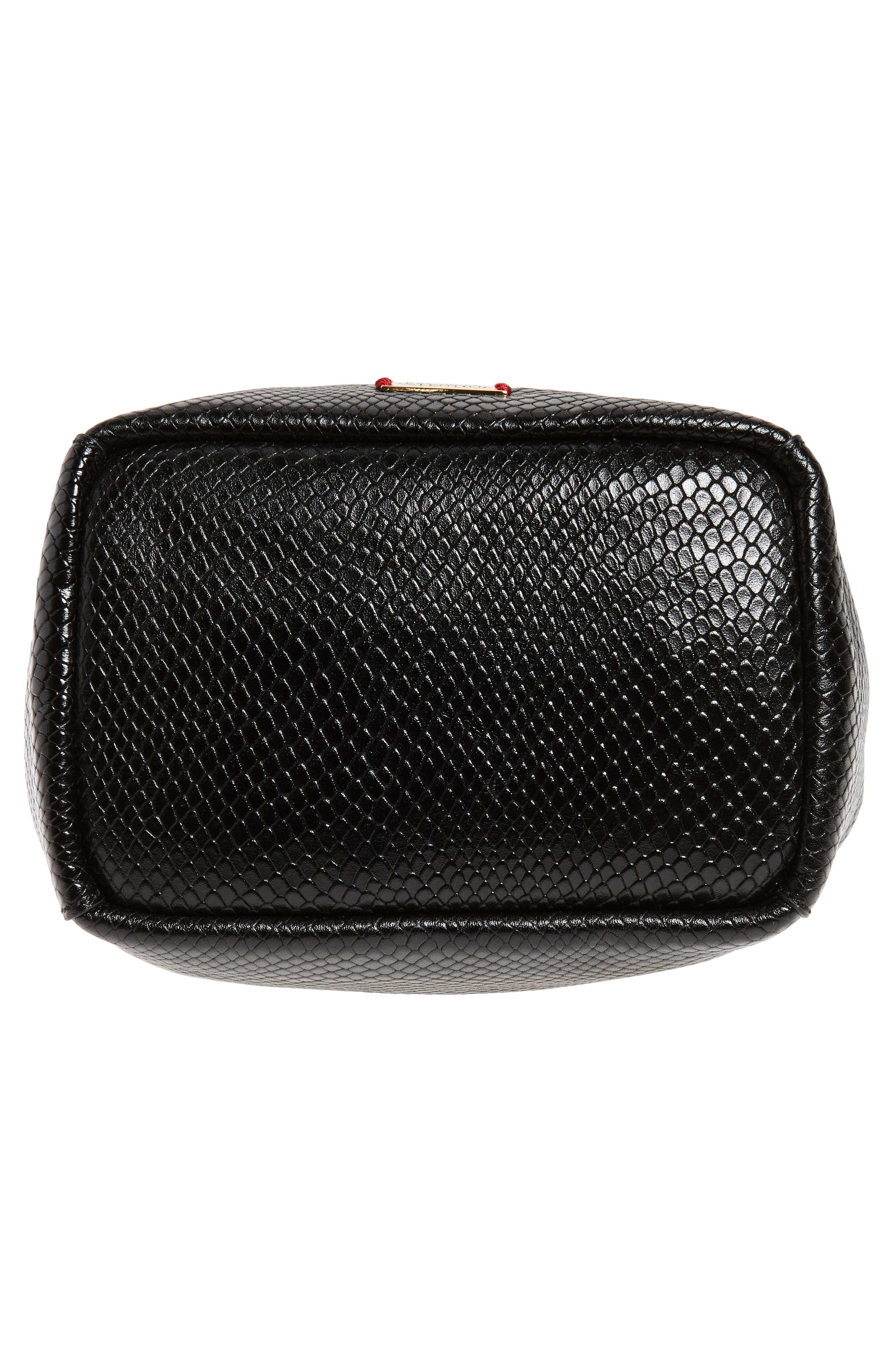 Alternate Image 5  - Frances Valentine Small Snakeskin Embossed Leather Bucket Bag