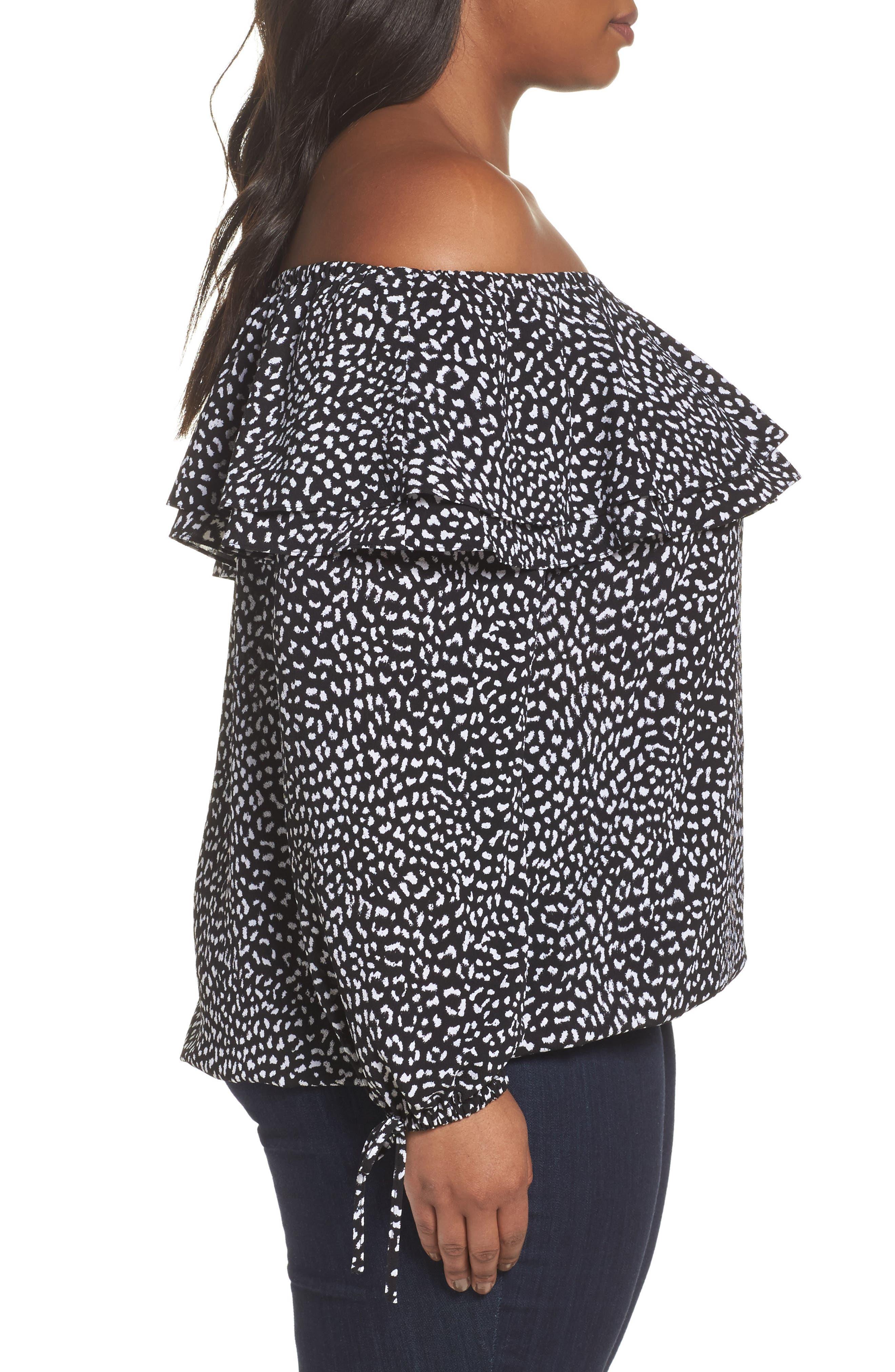 Alternate Image 3  - MICHAEL Michael Kors Cheetah Print Off the Shoulder Top (Plus Size)
