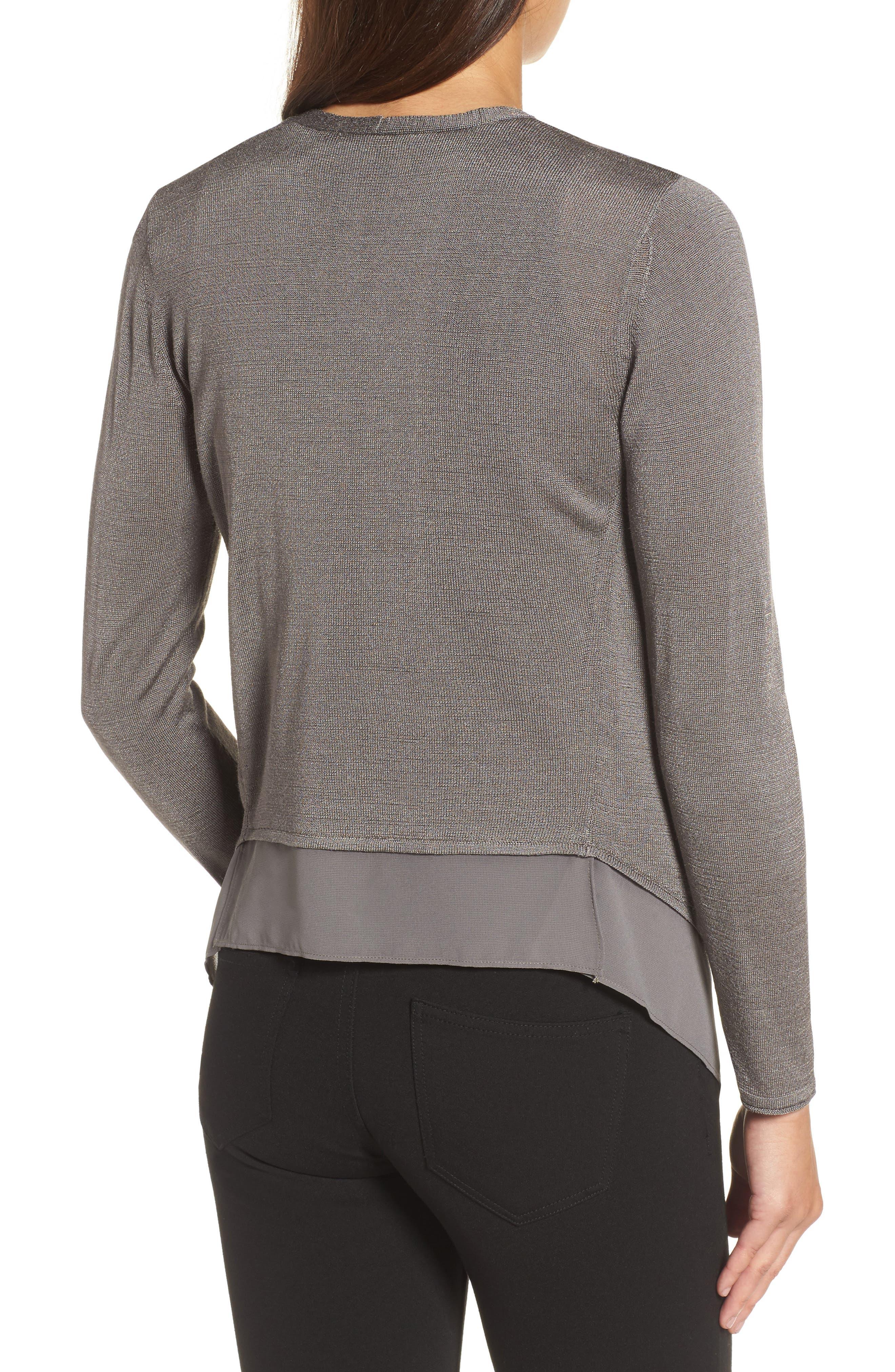 Alternate Image 2  - NIC+ZOE Paired Up Silk Blend Cardigan (Regular & Petite)