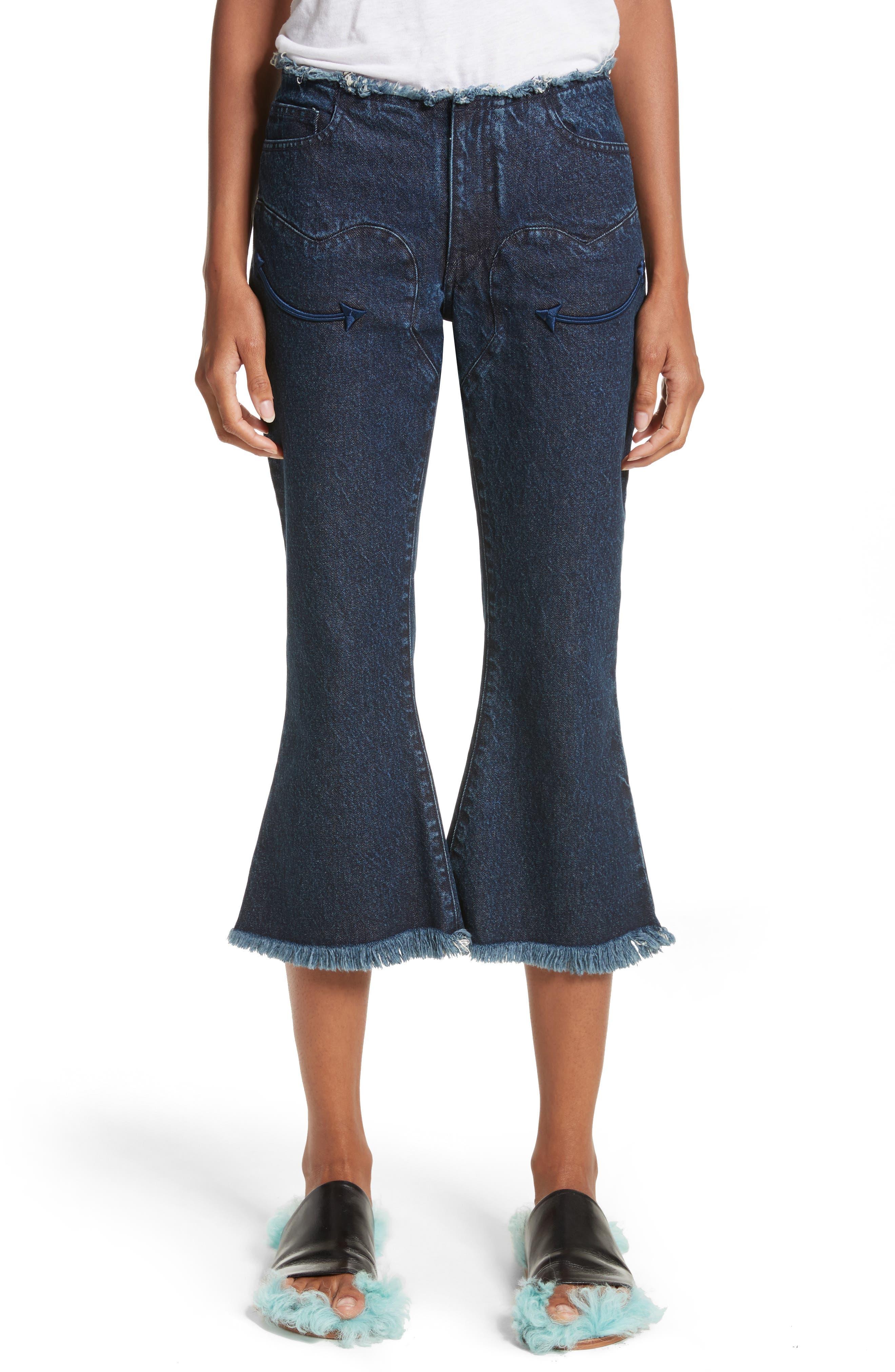 Marques'Almeida Cowboy Crop Jeans