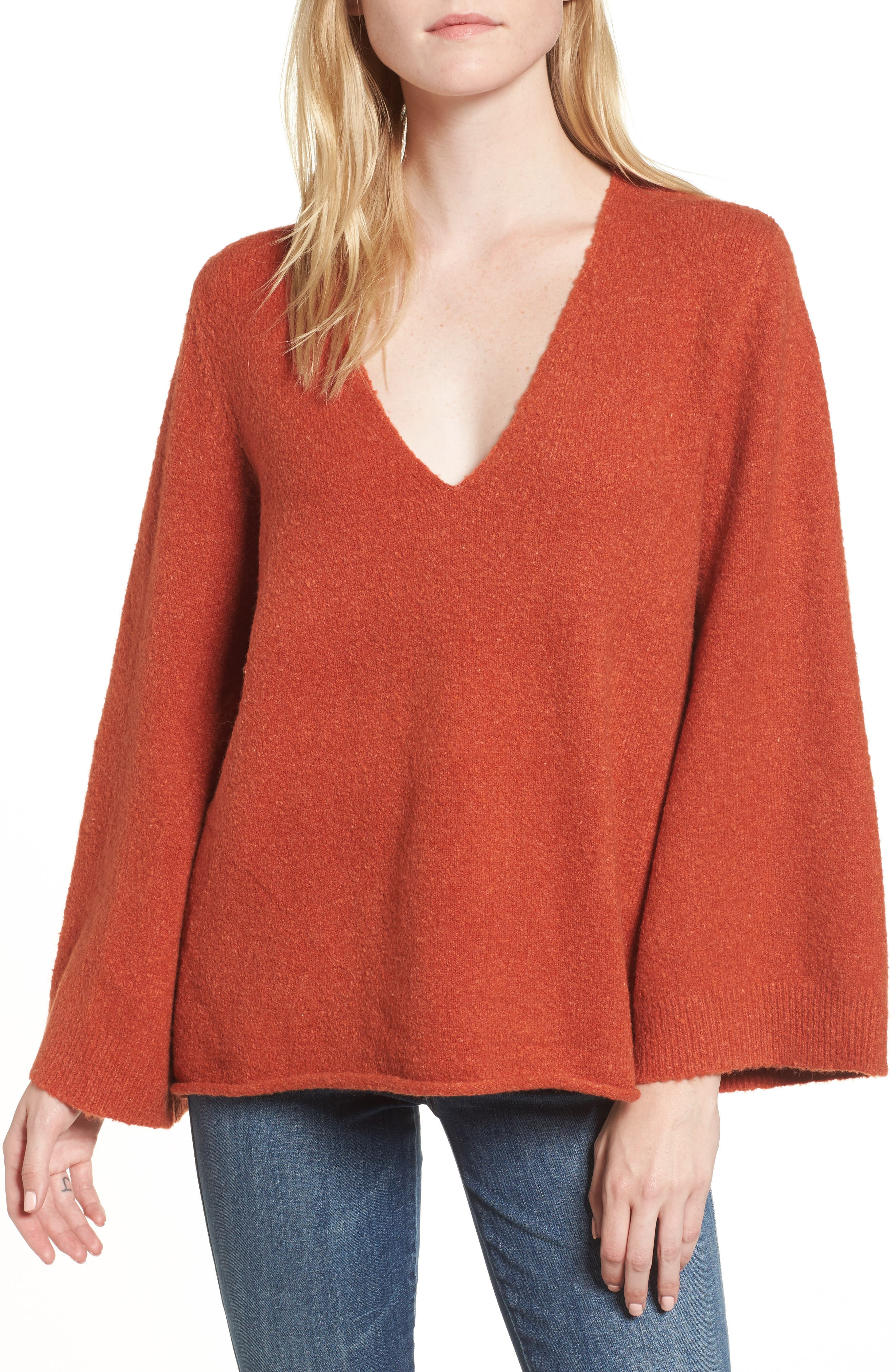 Urban Flossy Sweater,                             Main thumbnail 1, color,                             Copper Coin