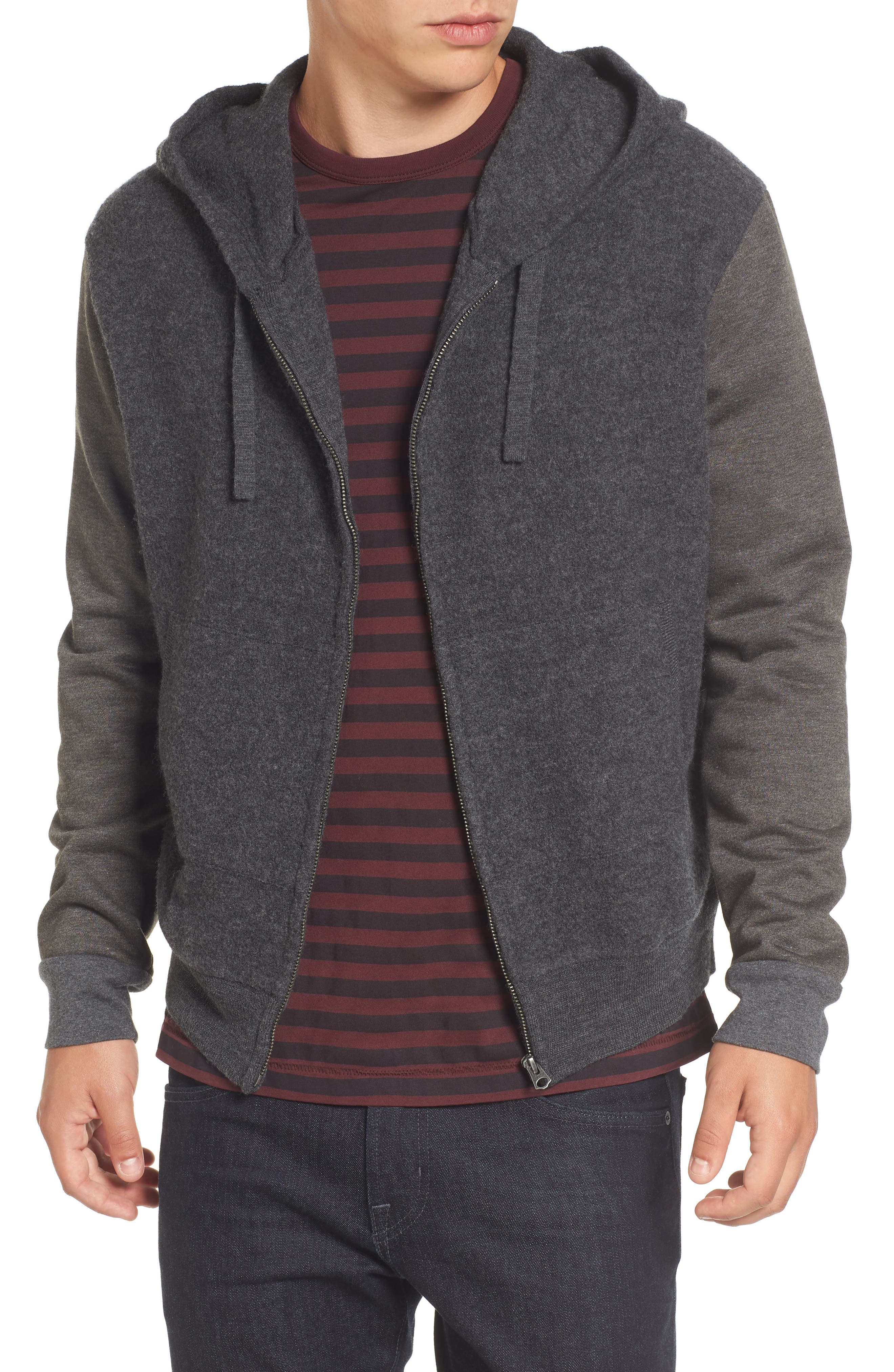 French Connection Hooded Zip Sweater