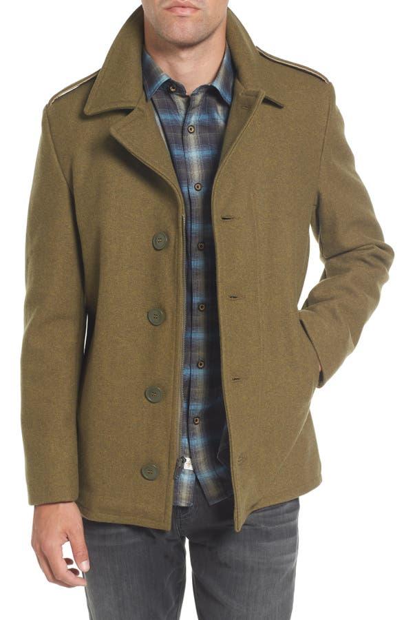 Schott NYC Slim Fit Wool Military Jacket | Nordstrom