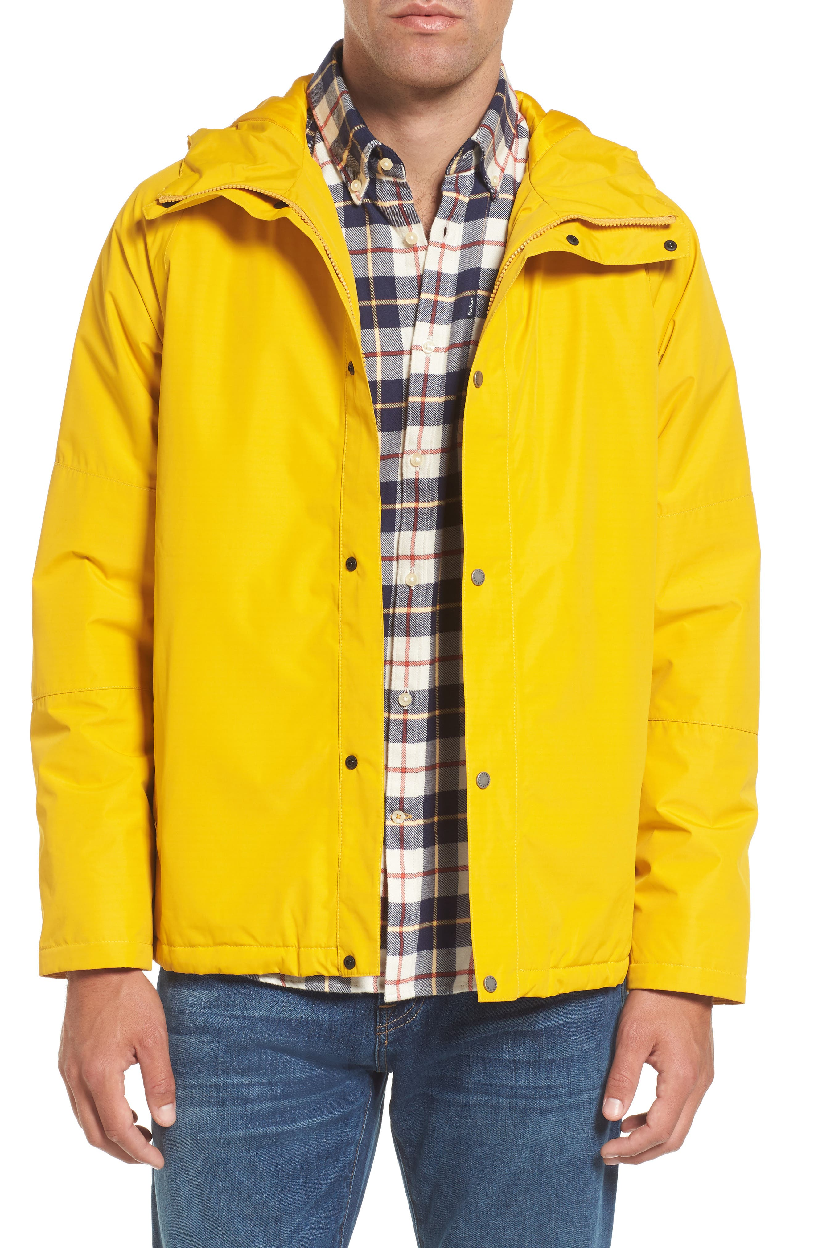 Rydal Waterproof Hooded Jacket,                         Main,                         color, Canary Yellow