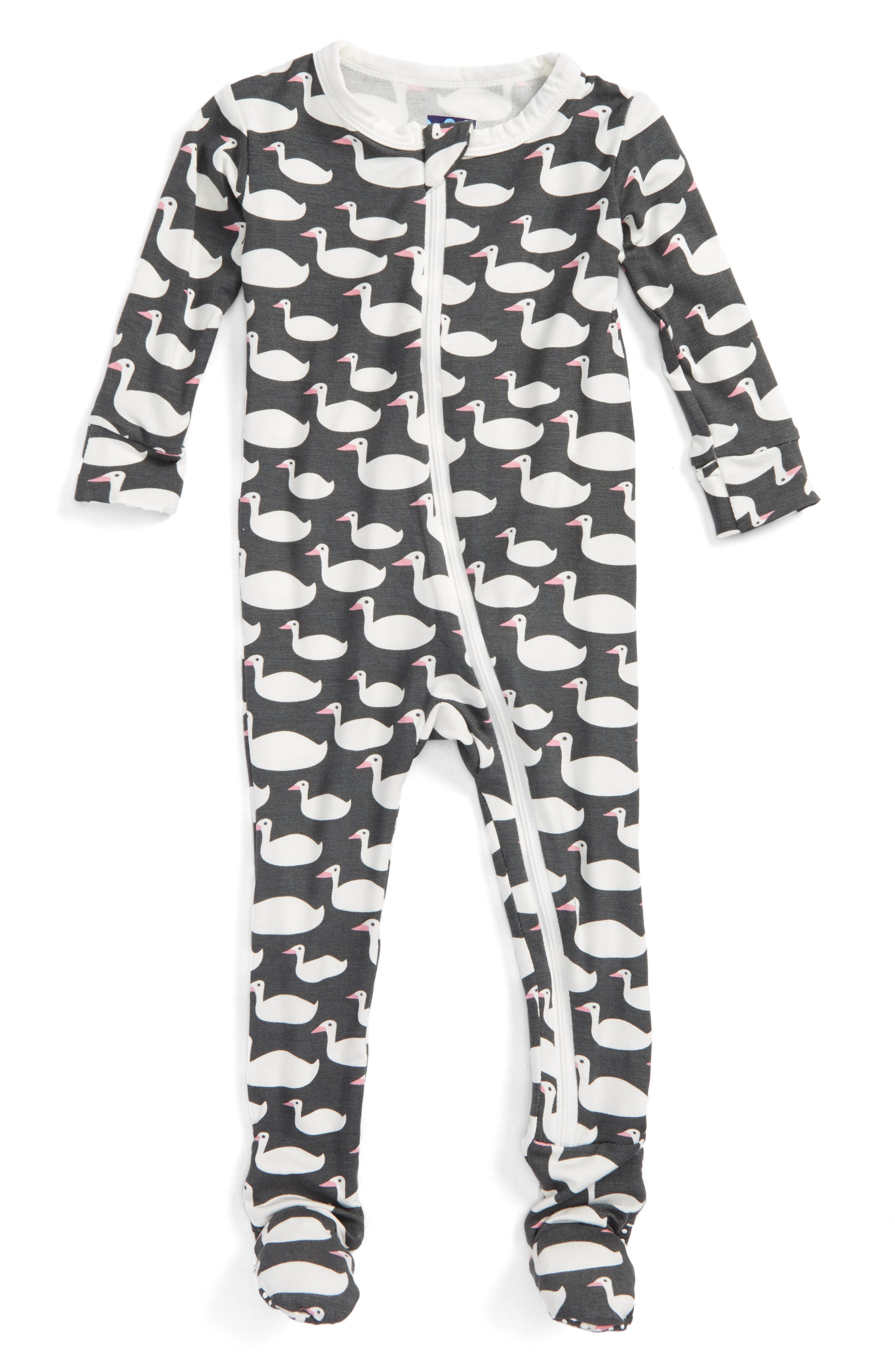 KICKEE PANTS Fitted One-Piece Footie Pajamas