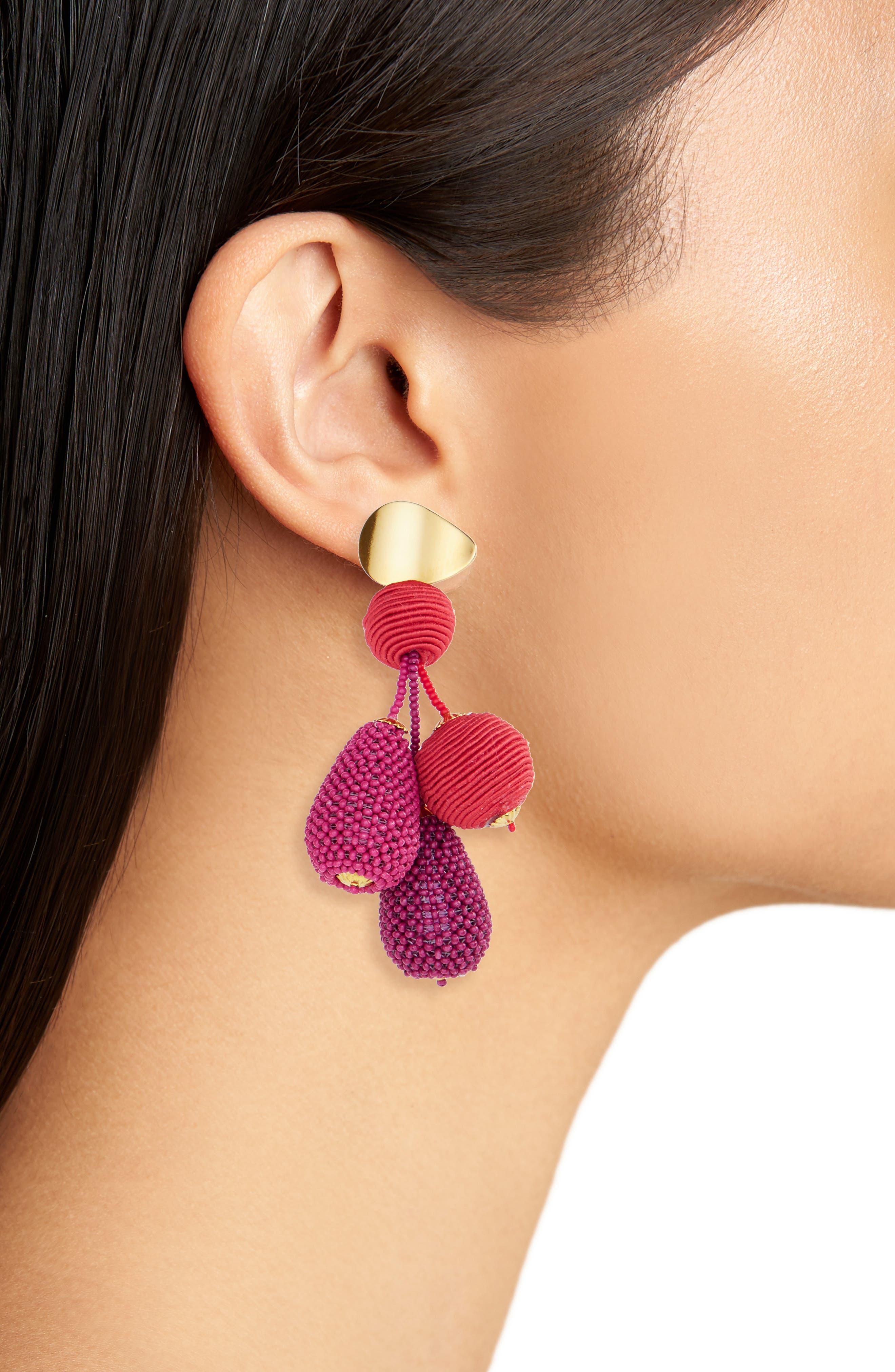 Meteor Drop Earrings,                             Alternate thumbnail 2, color,                             Pink