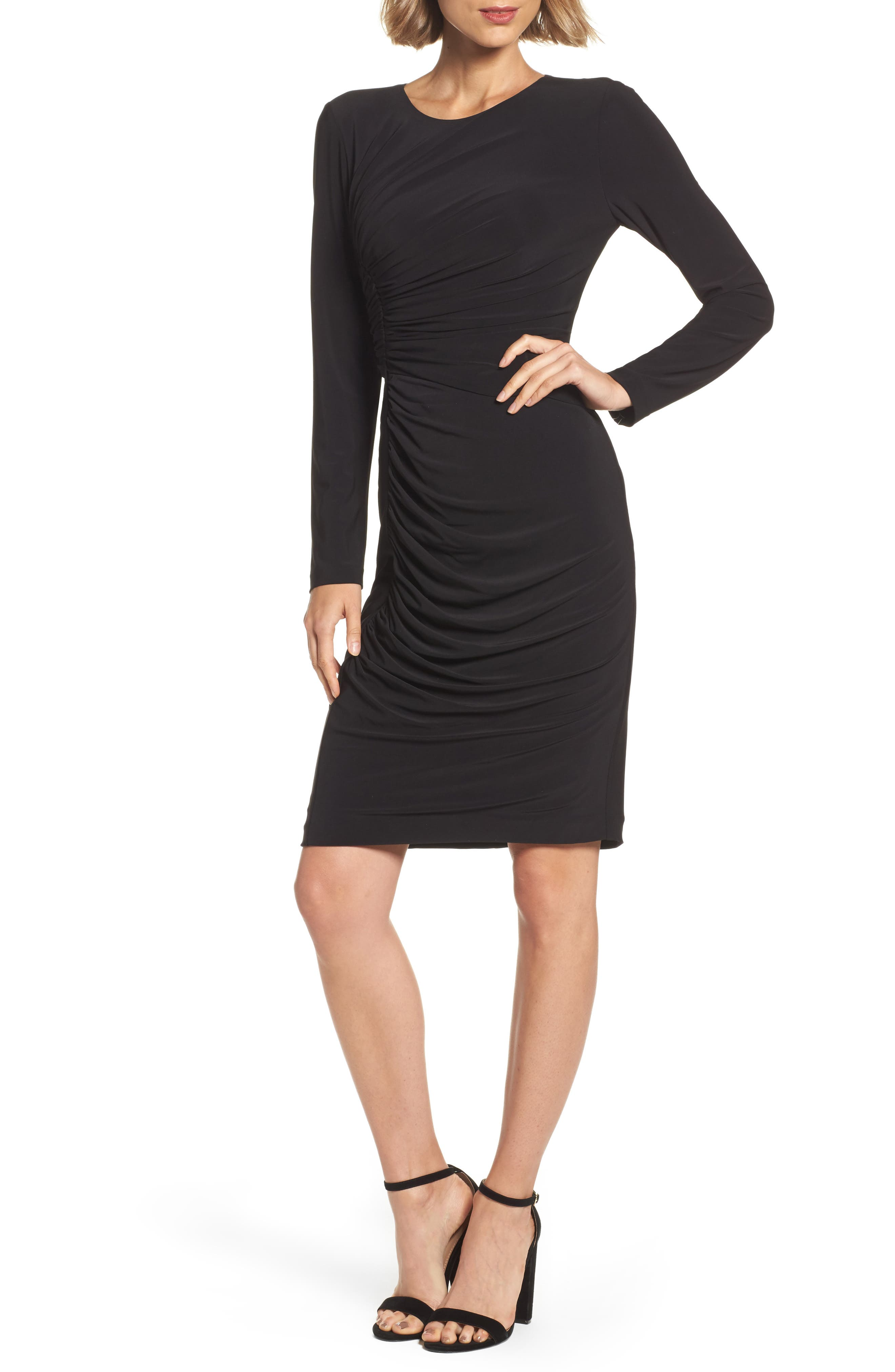 Adrianna Papell Ruched Jersey Sheath Dress