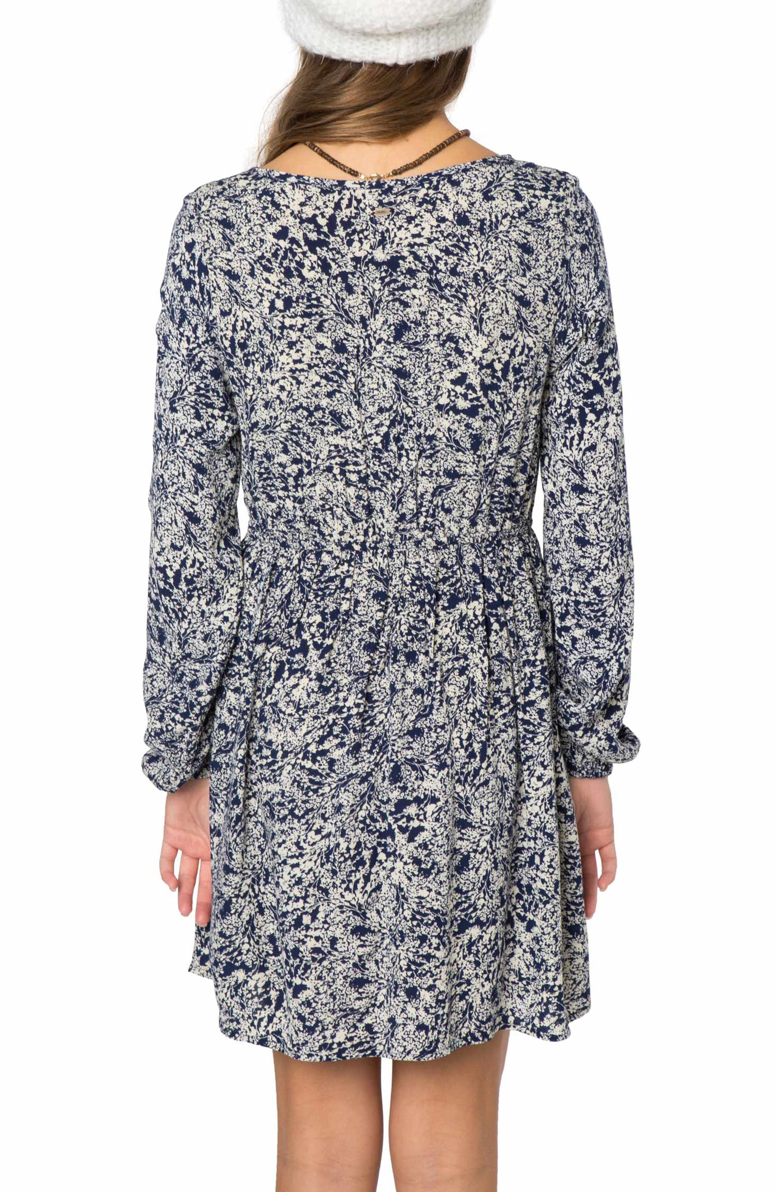 Rhianna Print Dress,                             Alternate thumbnail 2, color,                             Medieval Blue