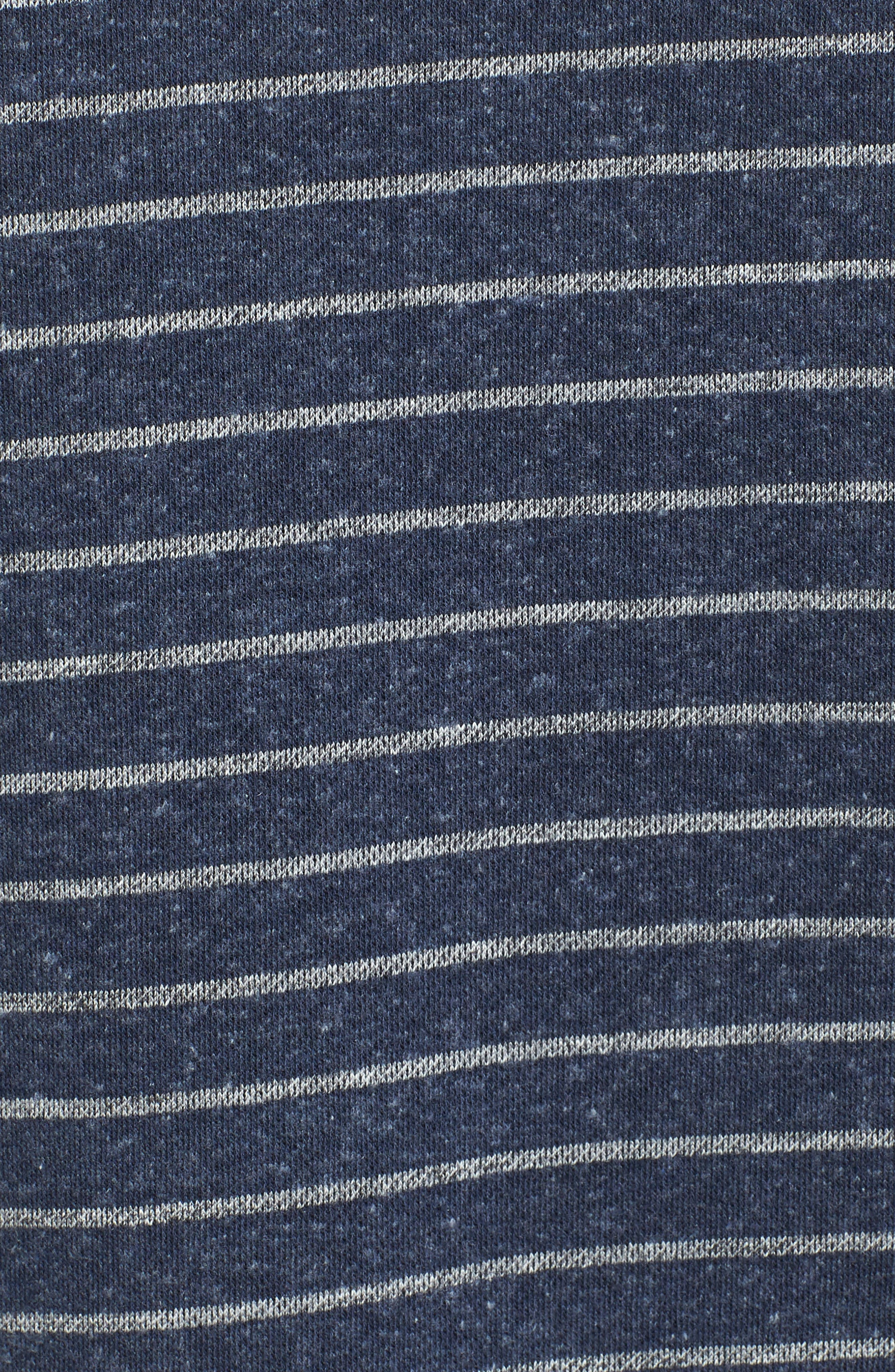 Palmer Modern Fit Athletic Stripe Sweatshirt,                             Alternate thumbnail 6, color,                             Navy/ Gray Heather
