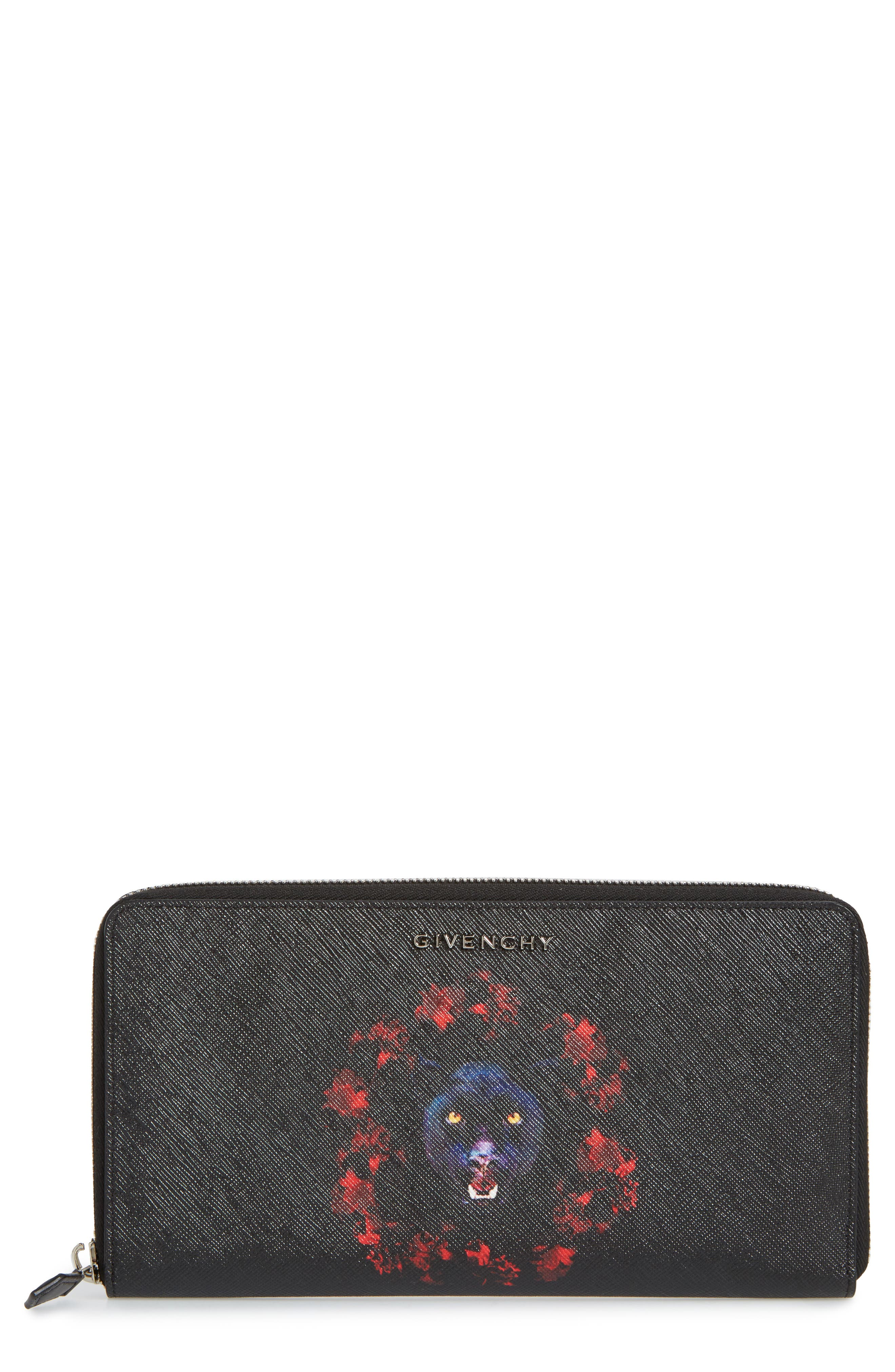 Alternate Image 1 Selected - Givenchy Jaguar Zip-Around Wallet