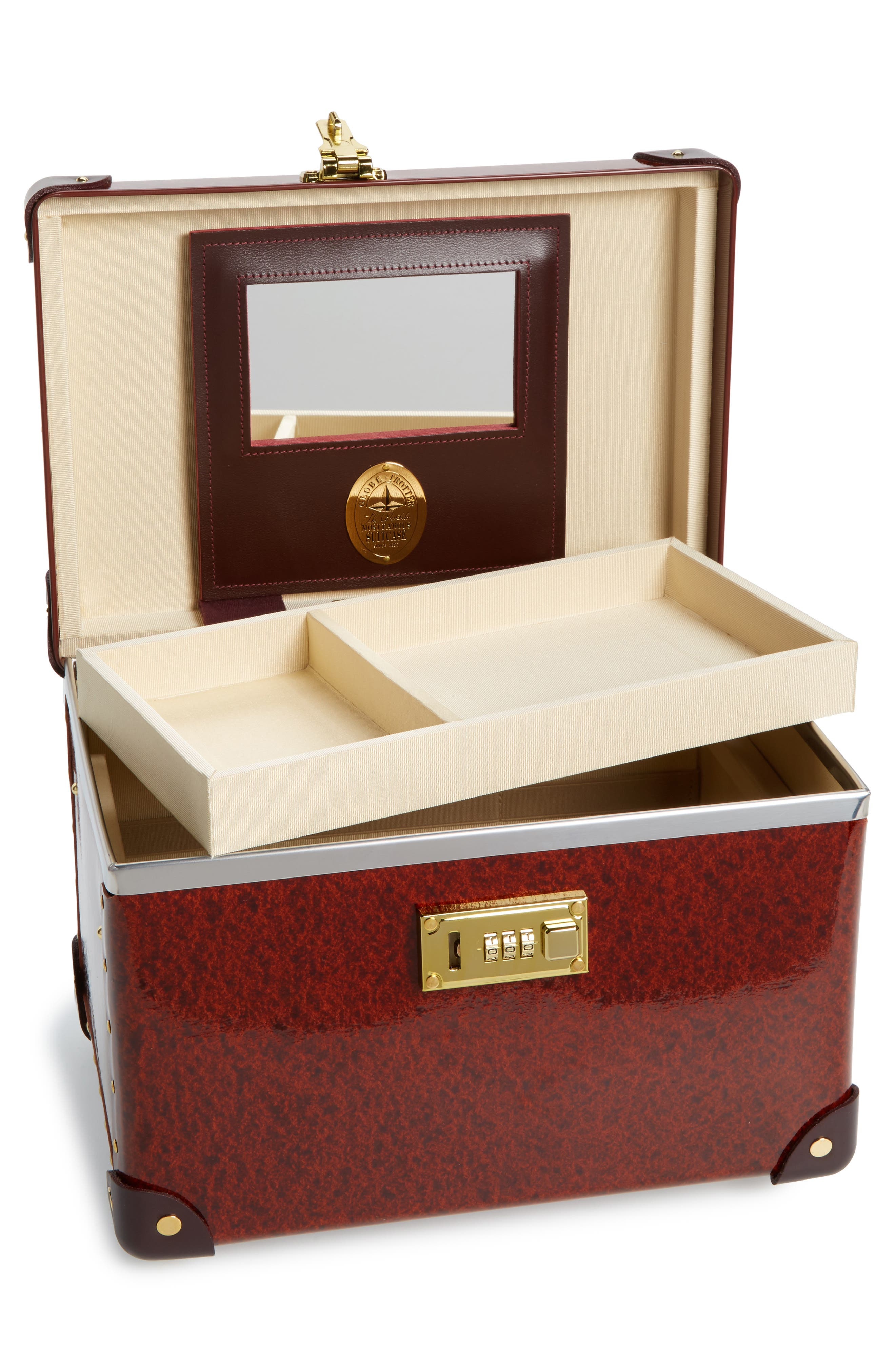 Orient 13-Inch Hardshell Vanity Case,                             Alternate thumbnail 2, color,                             Urushi/ Burgundy
