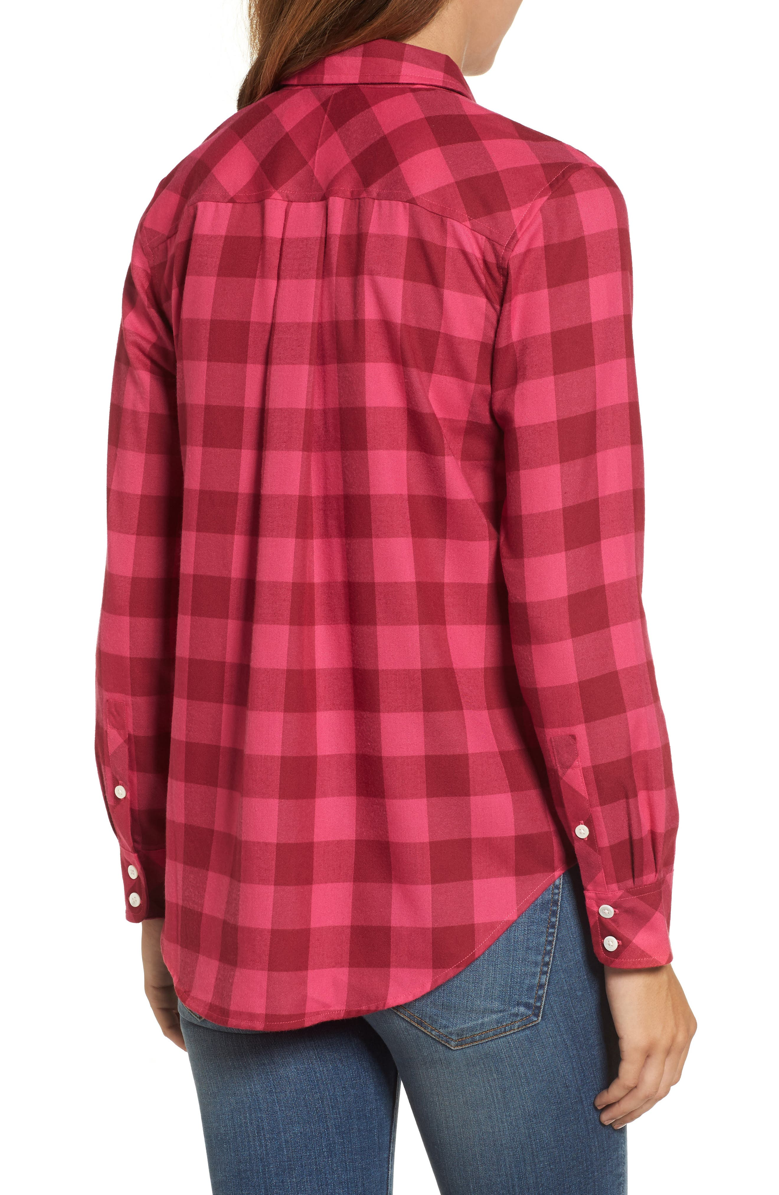 Alternate Image 2  - Vineyard Vines Carmel Relaxed Buffalo Check Shirt