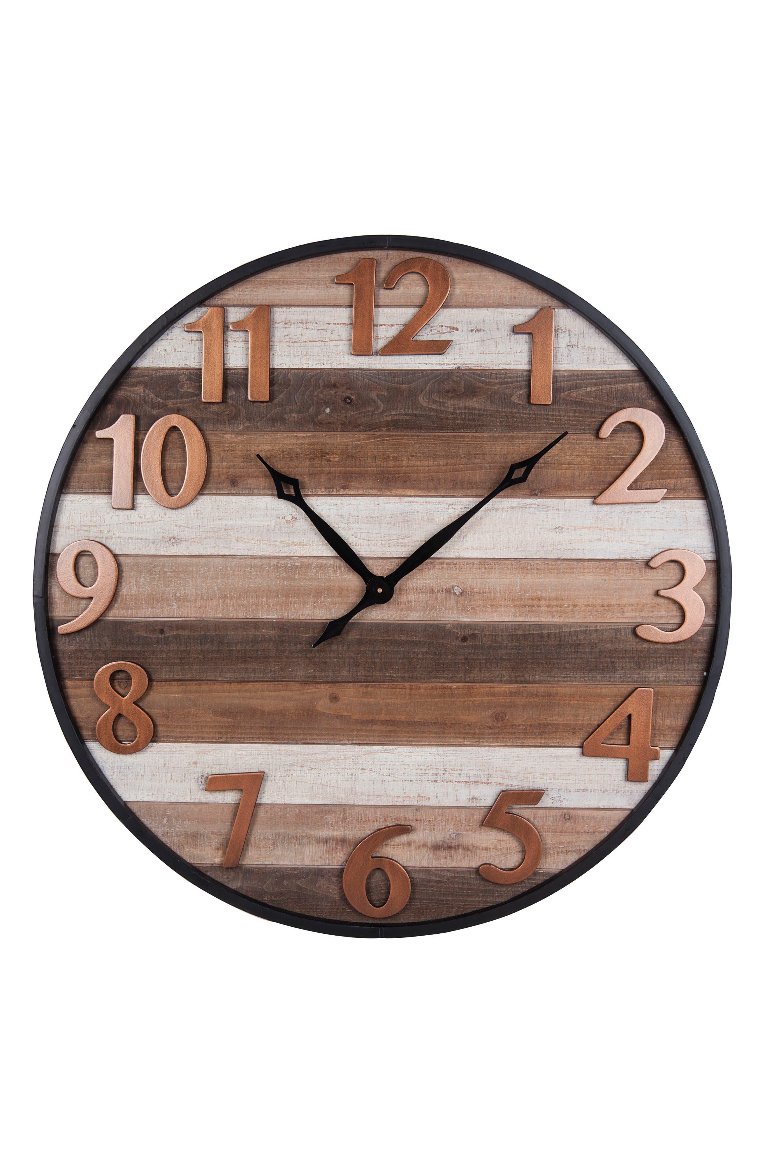 Aviator Wall Clock,                         Main,                         color, Wood/ Metal