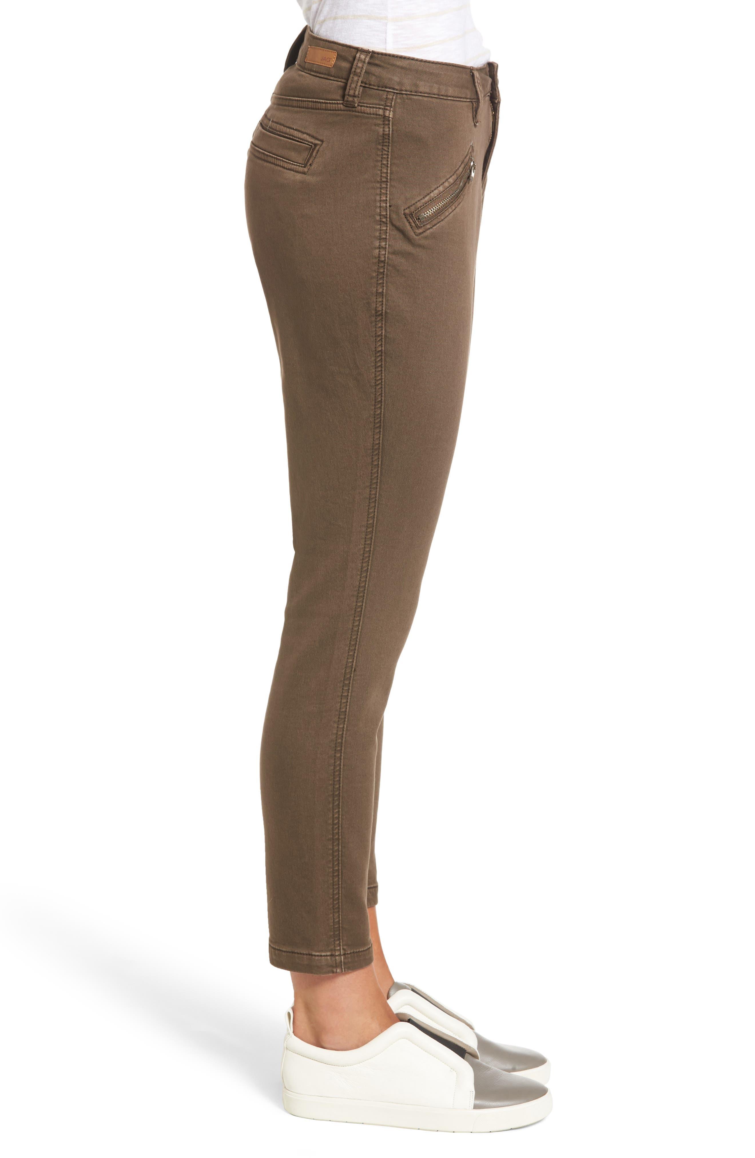 Alternate Image 3  - Jag Jeans Ryan Knit Skinny Jeans (Saddle)
