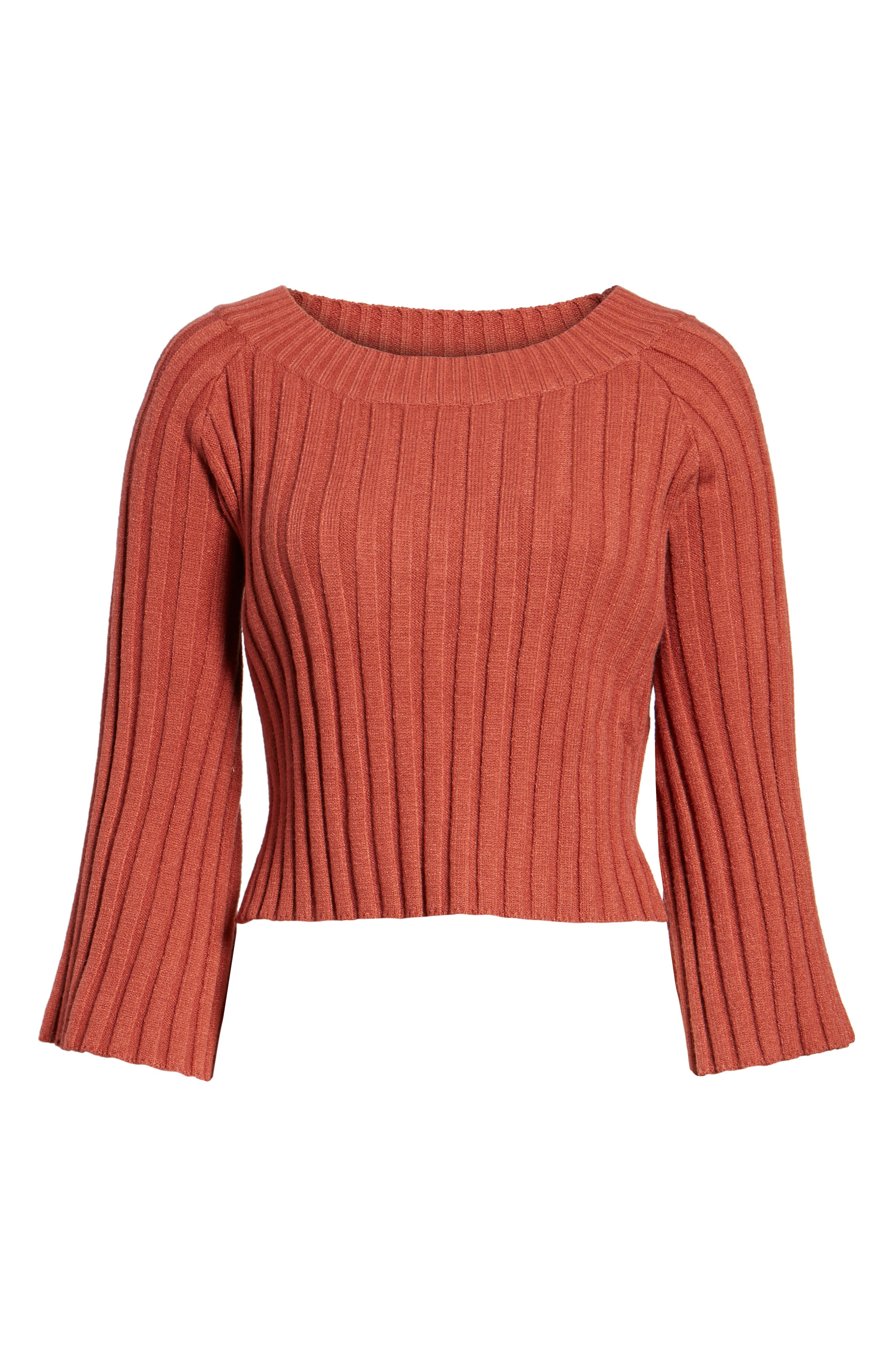 Alternate Image 6  - J.O.A. Crop Ribbed Sweater
