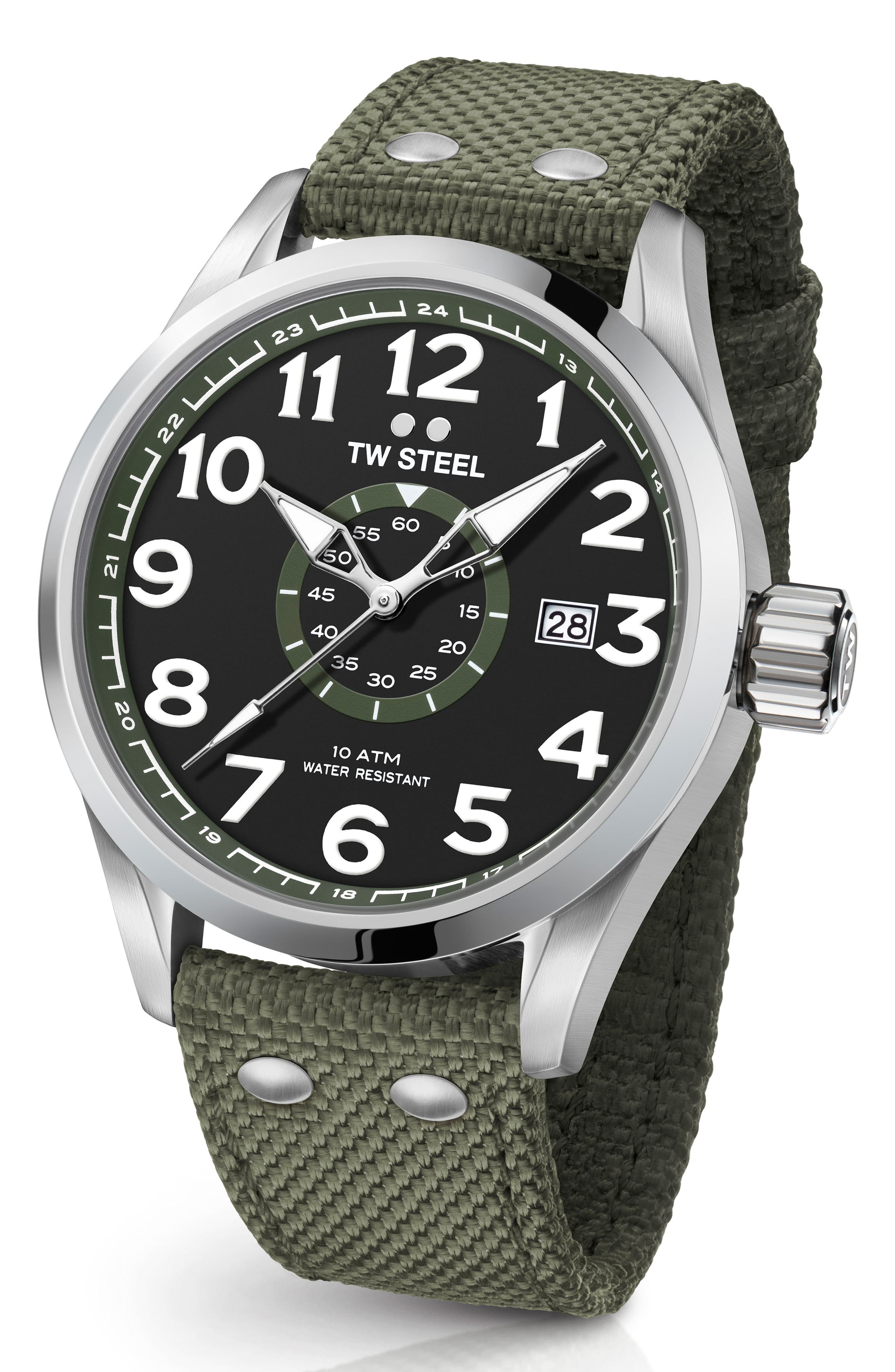 Alternate Image 1 Selected - TW Steel Volante Textile Strap Watch, 45mm