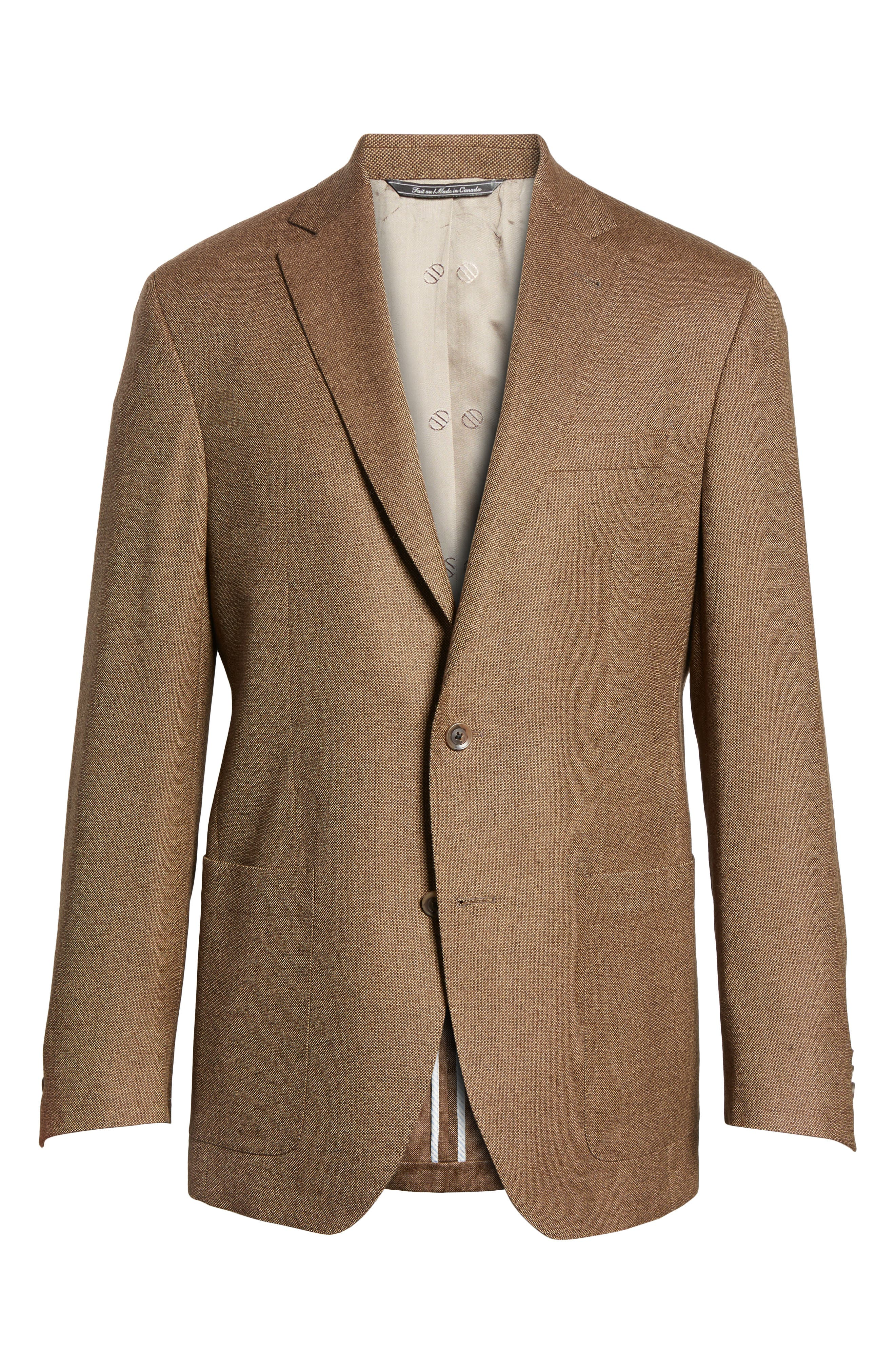Aiden Classic Fit Wool Blazer,                             Alternate thumbnail 6, color,                             Light Brown