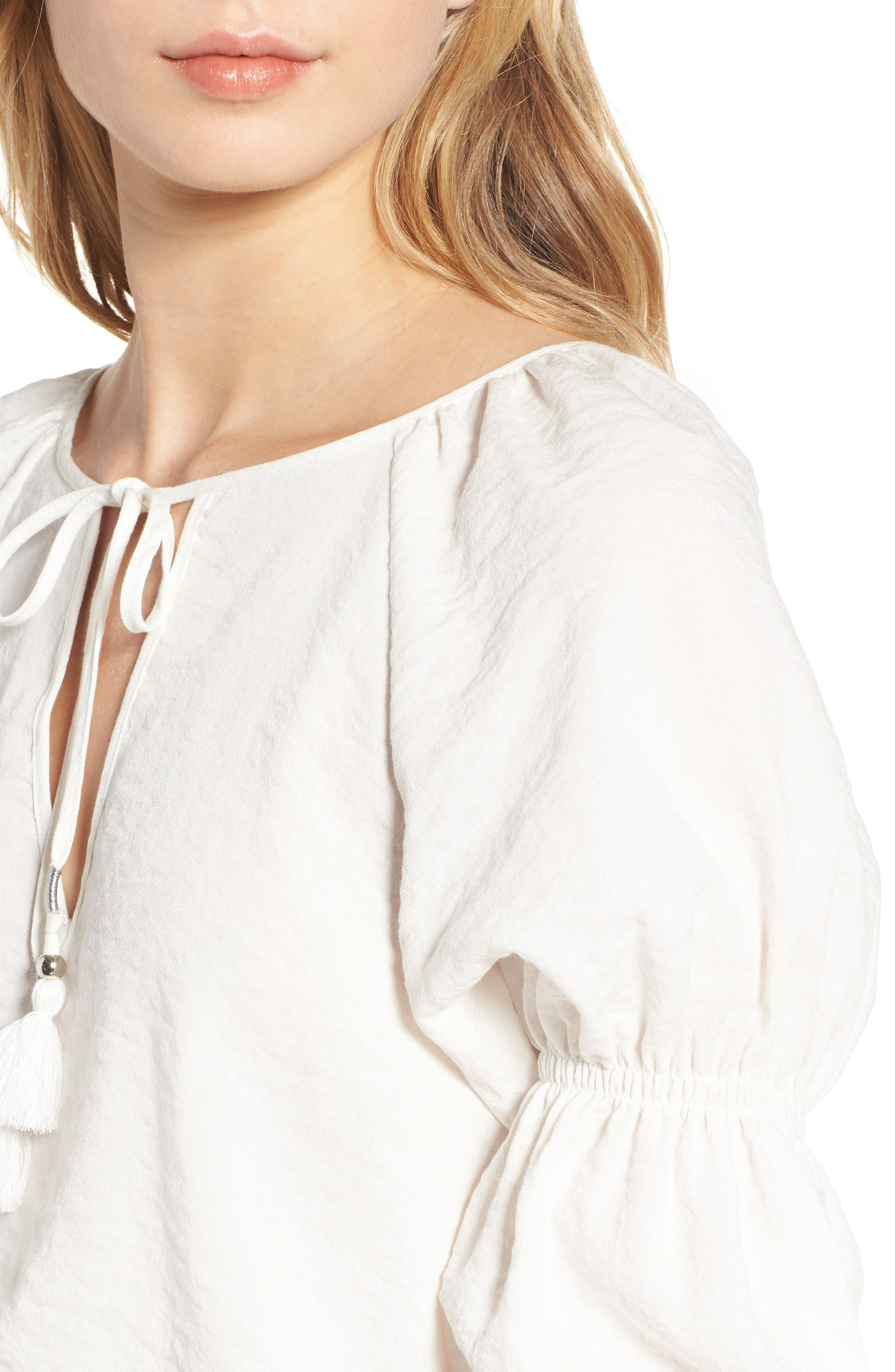 East Puff Sleeve Top,                             Alternate thumbnail 4, color,                             Ivory