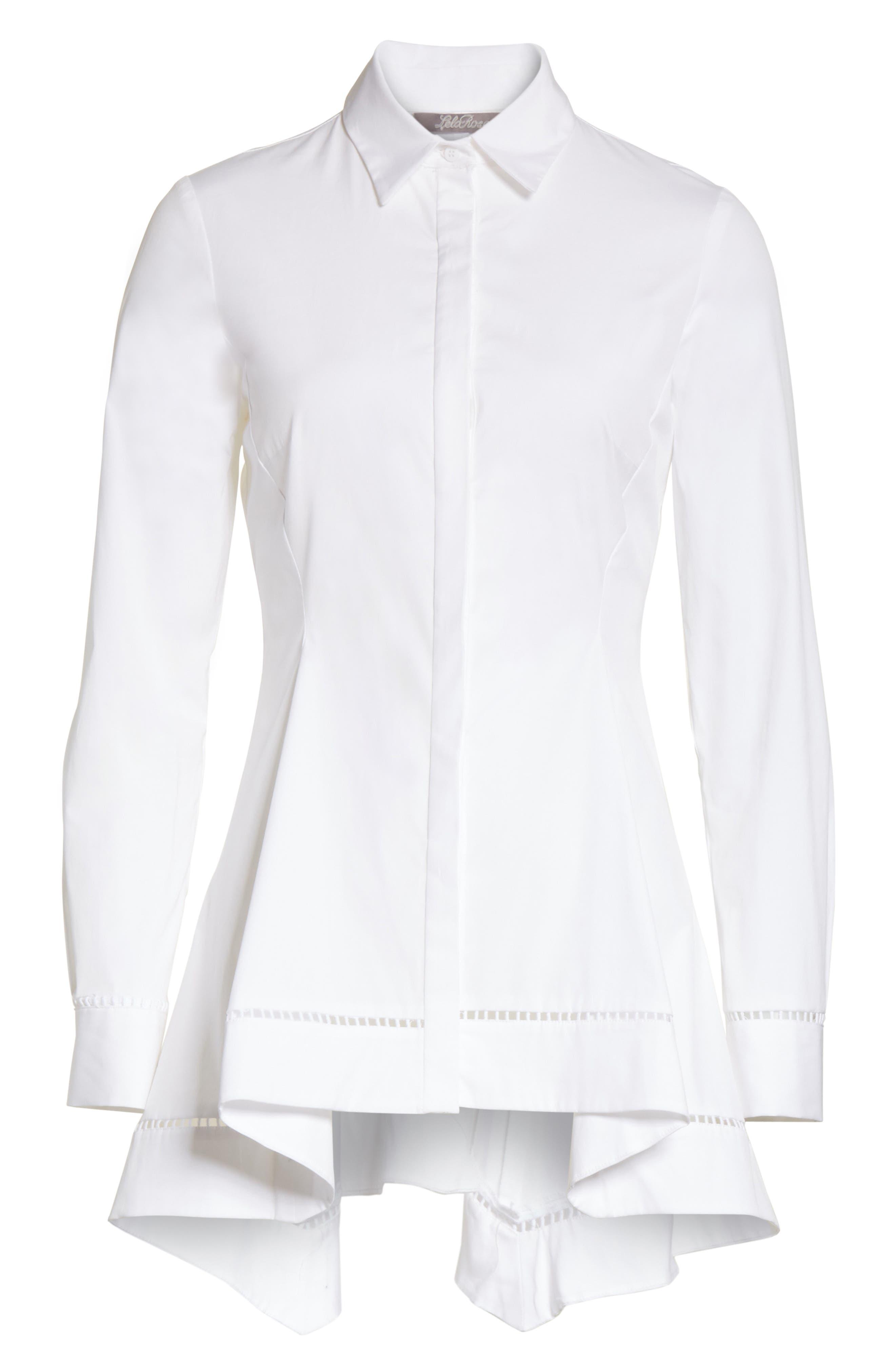 Peplum Shirt,                             Alternate thumbnail 7, color,                             White