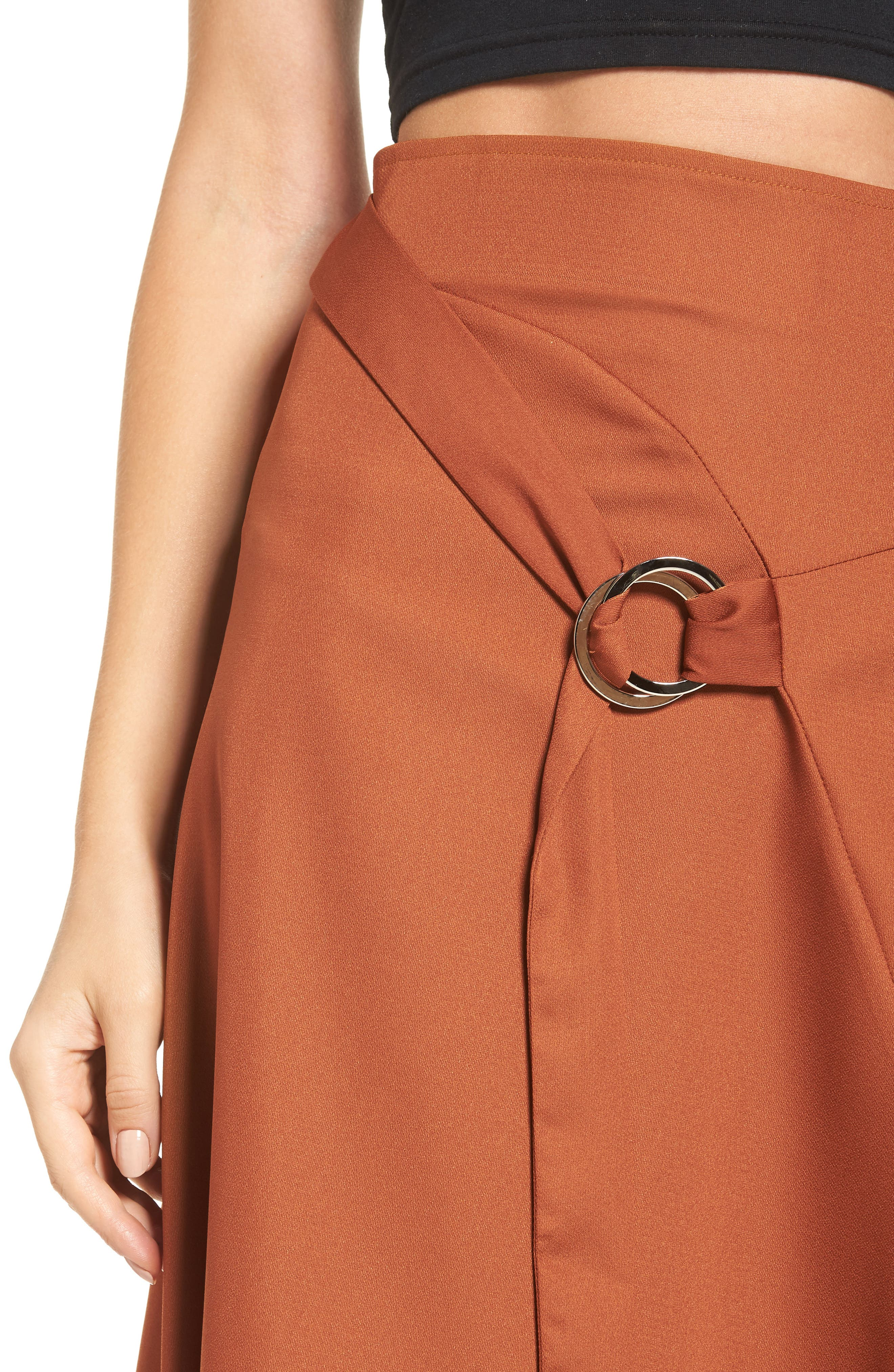 Alternate Image 4  - J.O.A. Belted Midi Skirt