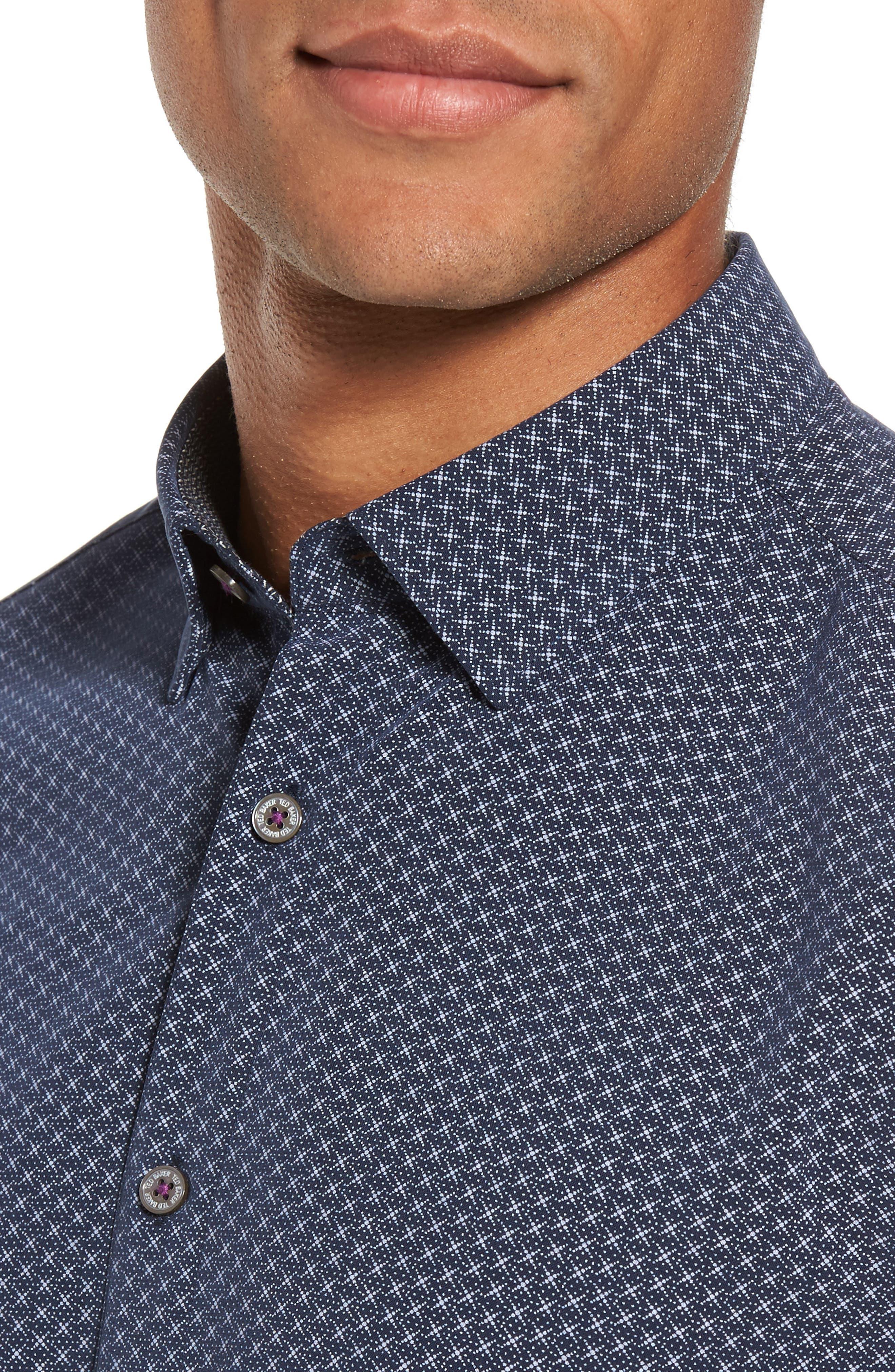 Alternate Image 4  - Ted Baker London Geo Polynosic Slim Fit Woven Shirt