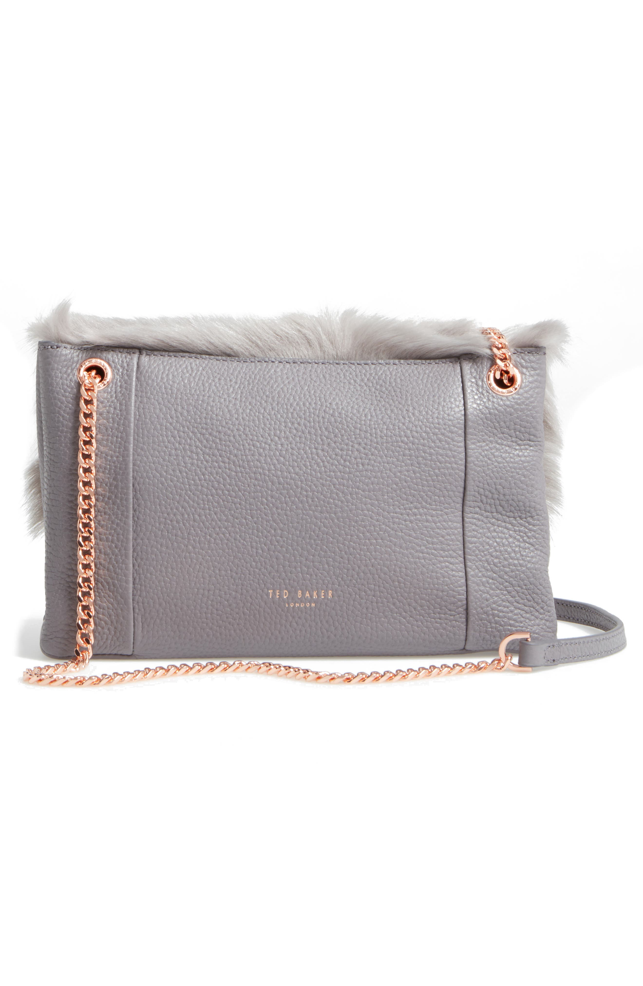 Alternate Image 2  - Ted Baker London Fuzzi Genuine Shearling & Leather Convertible Crossbody Bag