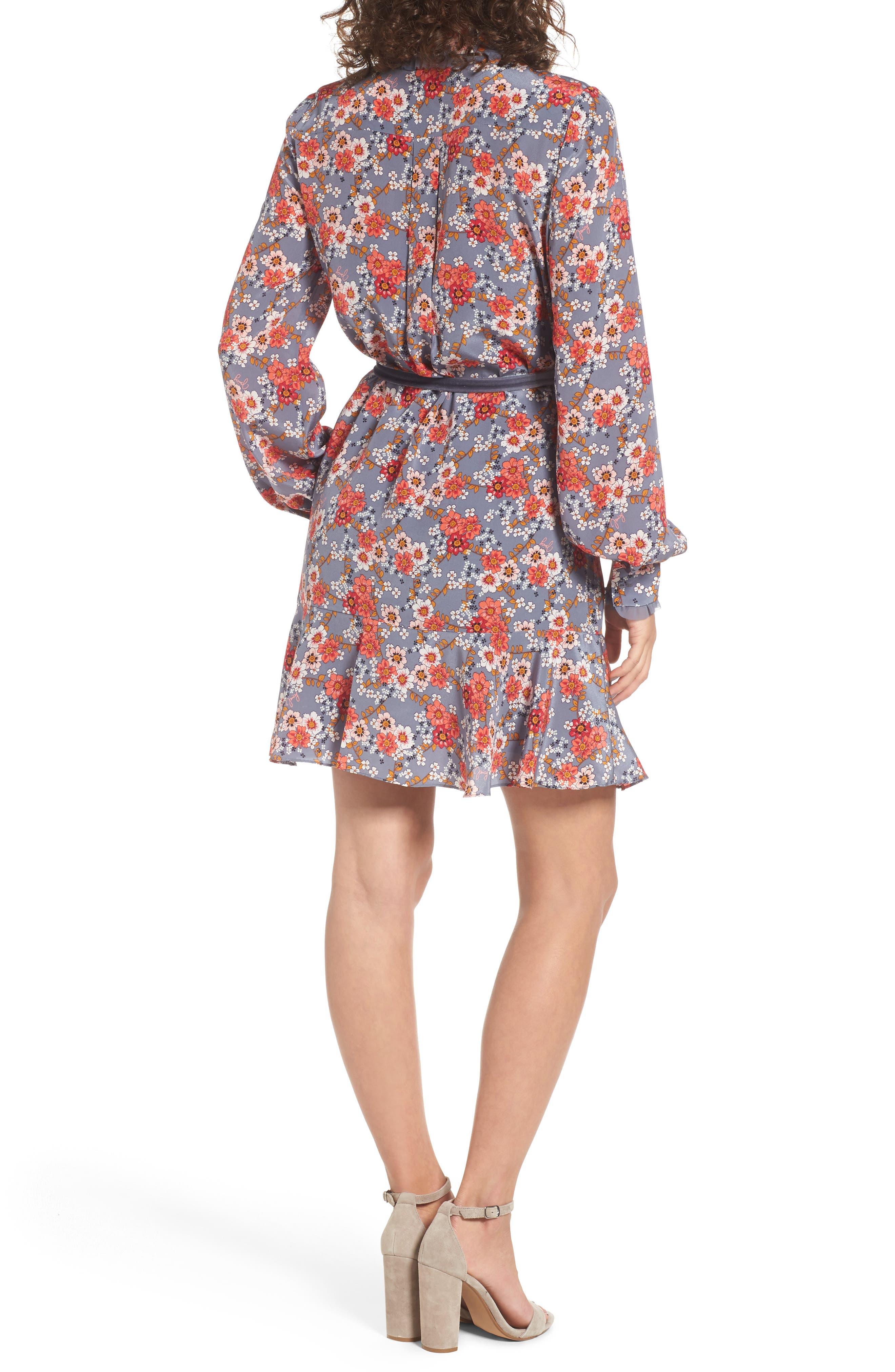 Larchmont Blooms Silk Shirtdress,                             Alternate thumbnail 2, color,                             Slate Swirl Larchmonth Blooms