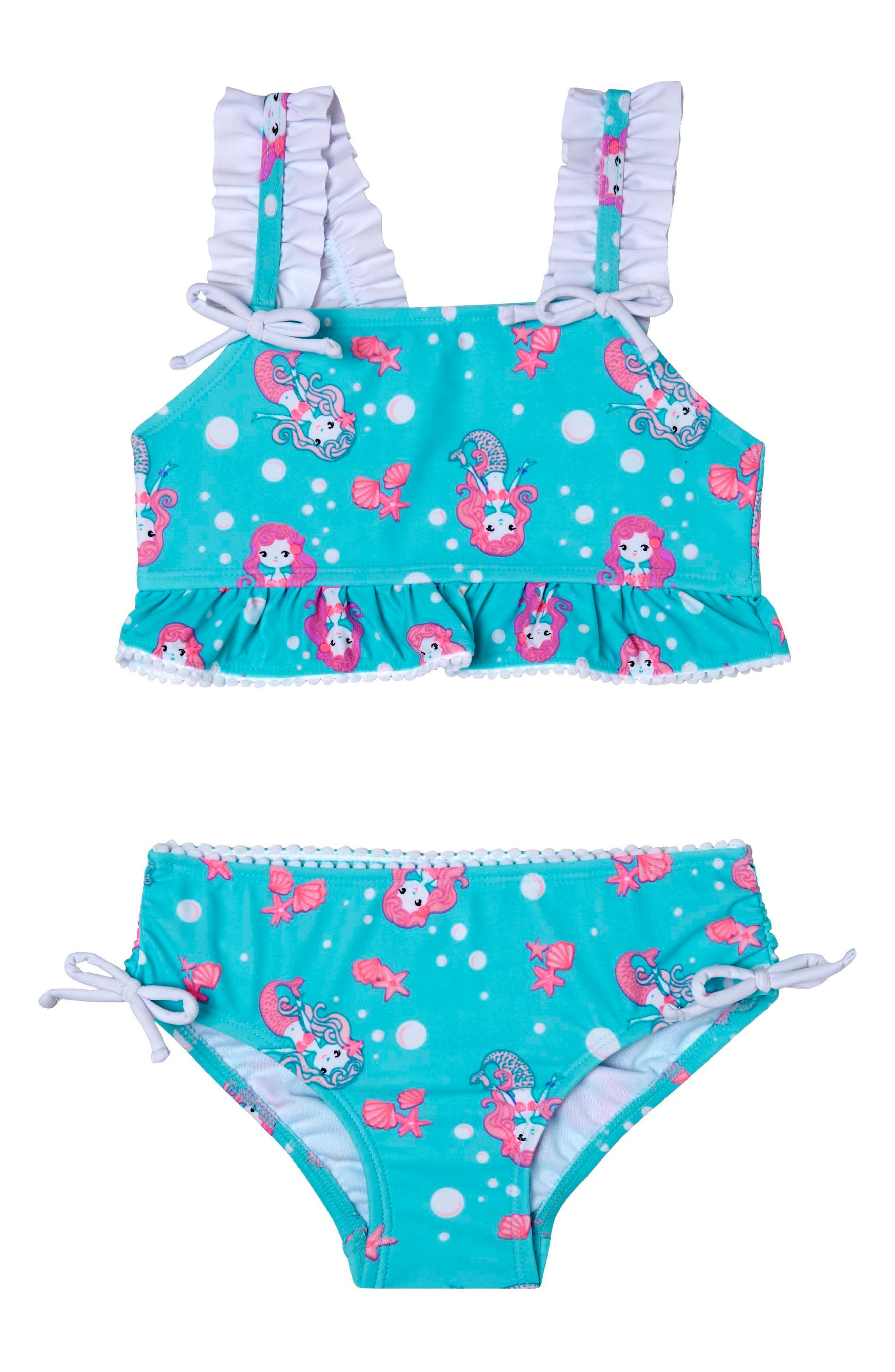 Mermaid Crush Two-Piece Swimsuit,                         Main,                         color, Aqua