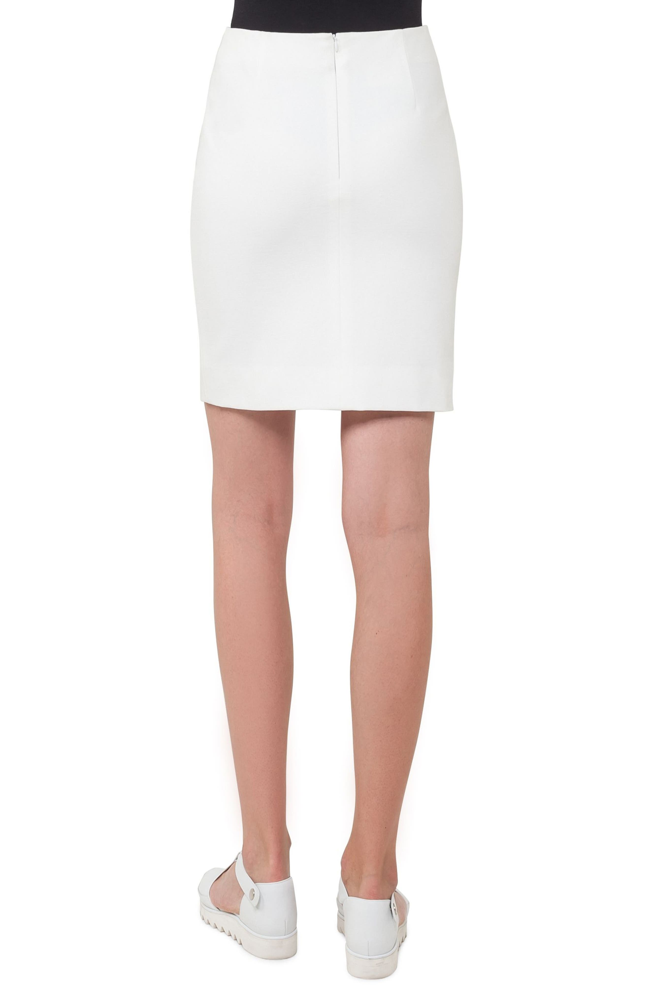 Jersey Miniskirt,                             Alternate thumbnail 2, color,                             Cream