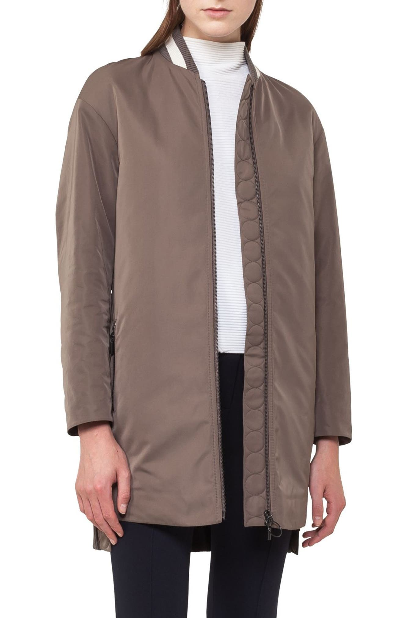 Techno Bomber Coat,                             Main thumbnail 1, color,                             Taupe