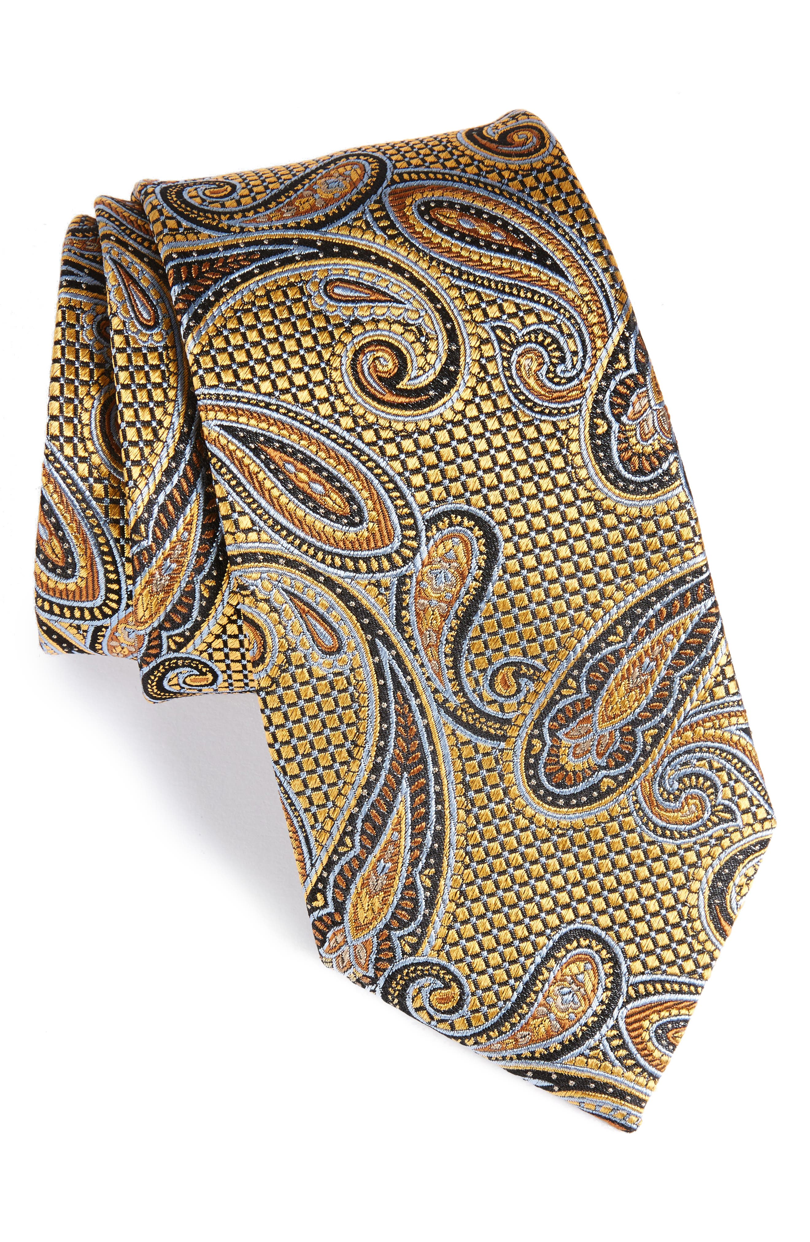 Alternate Image 1 Selected - Nordstrom Men's Shop Paisley Silk Tie