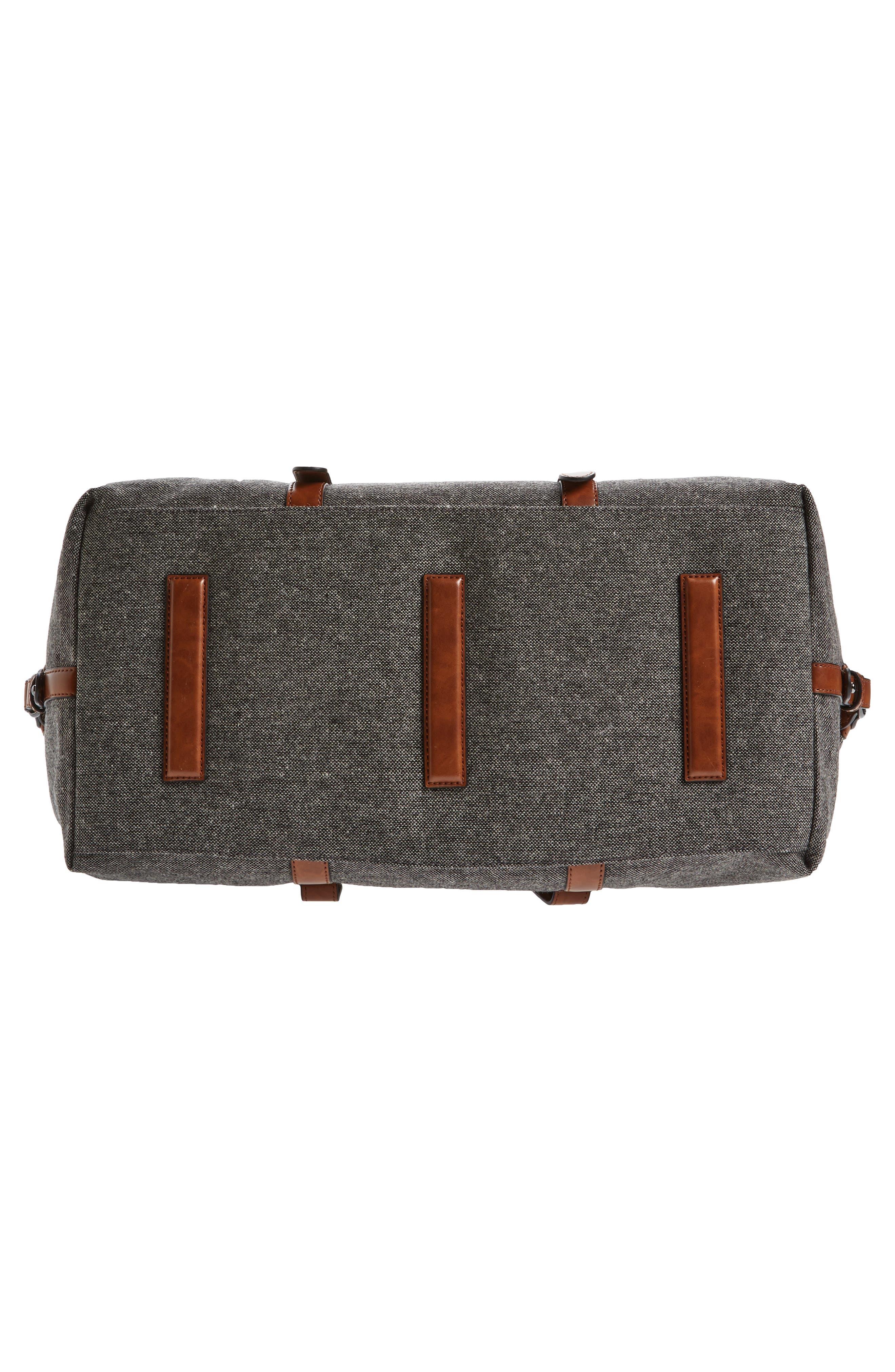 Tailor Wool Duffel Bag,                             Alternate thumbnail 6, color,                             Grey