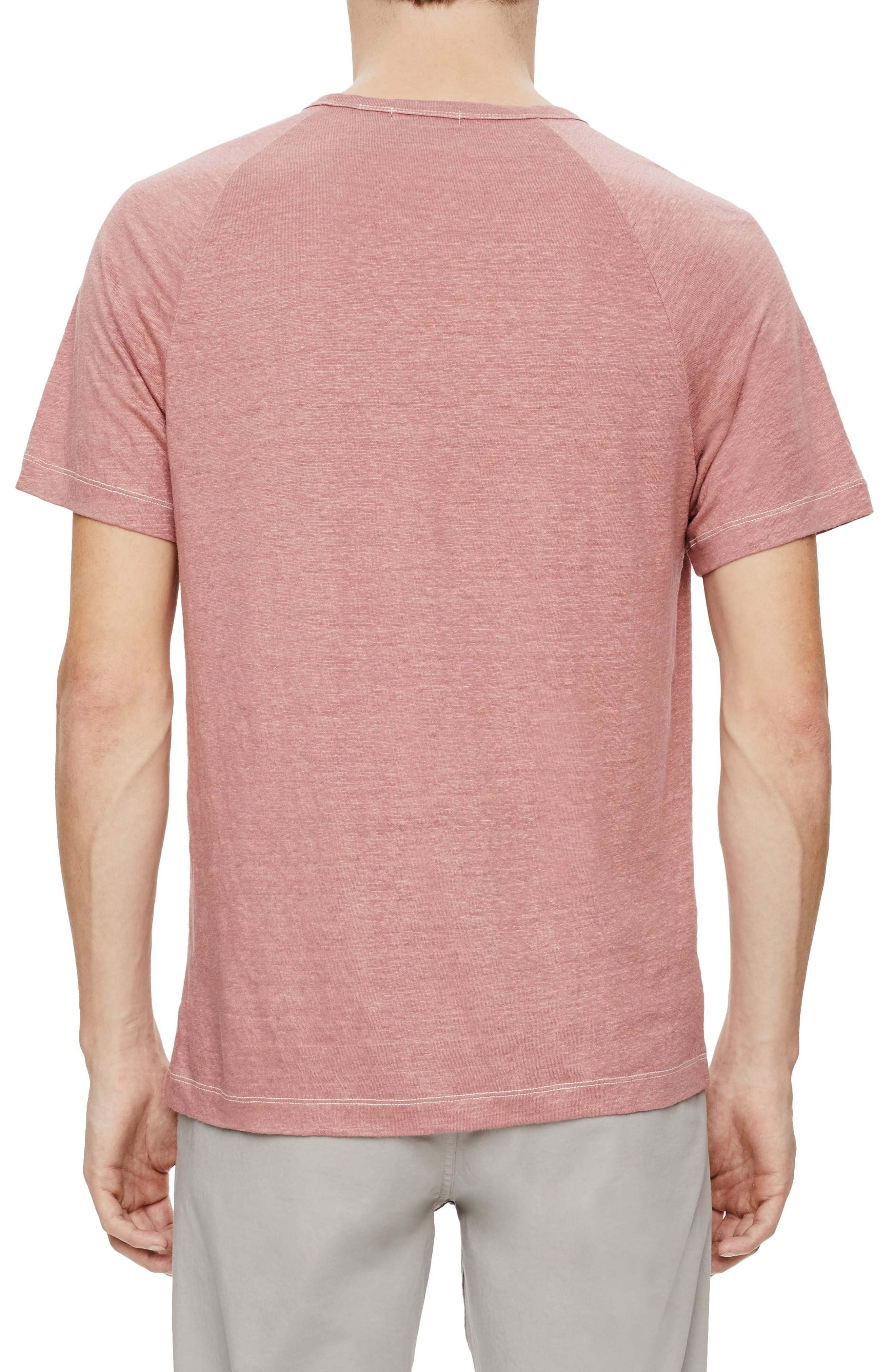 Dustyn Zephyr Raglan Linen T-Shirt,                             Alternate thumbnail 2, color,                             Allium