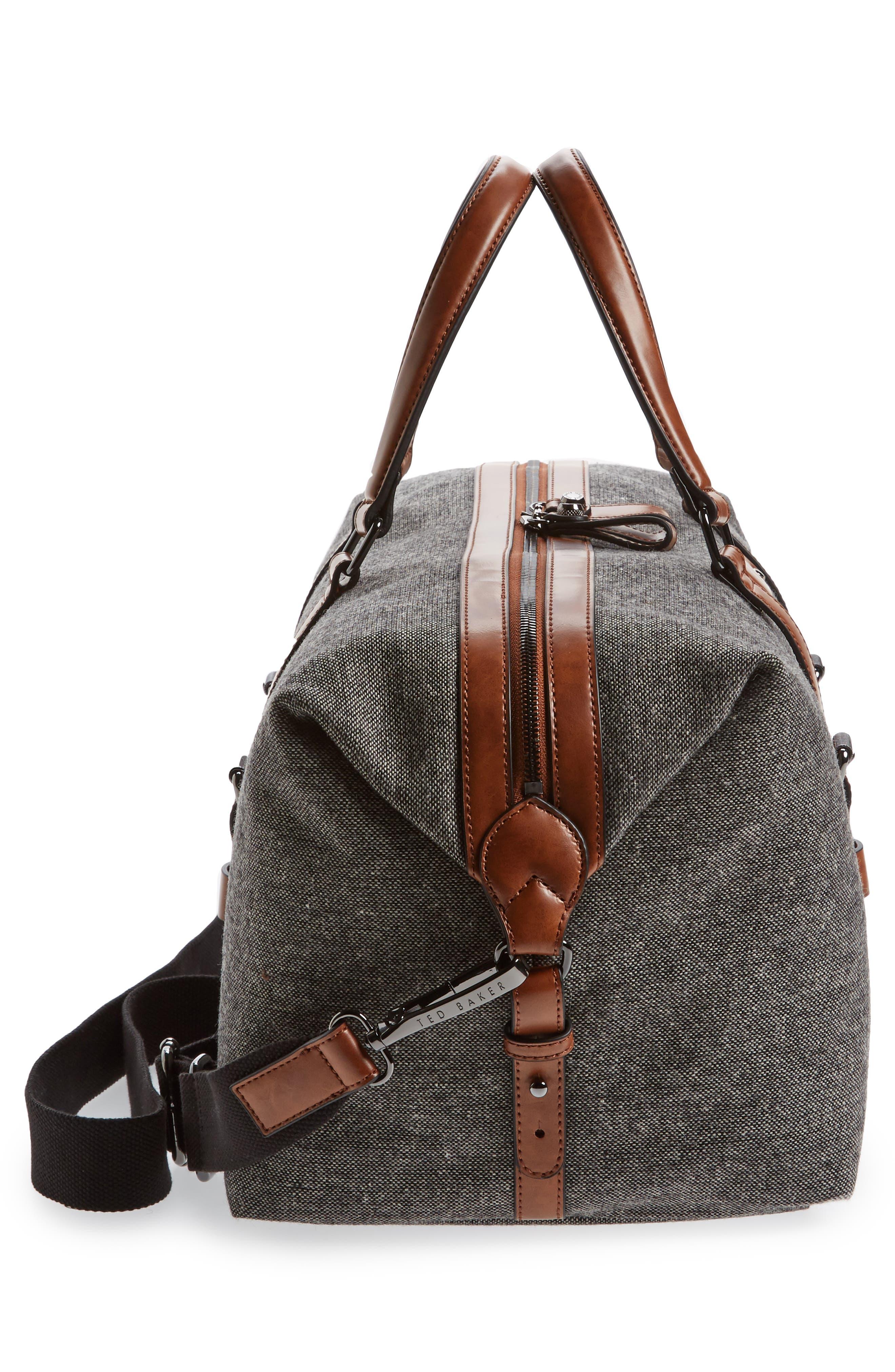 Tailor Wool Duffel Bag,                             Alternate thumbnail 5, color,                             Grey