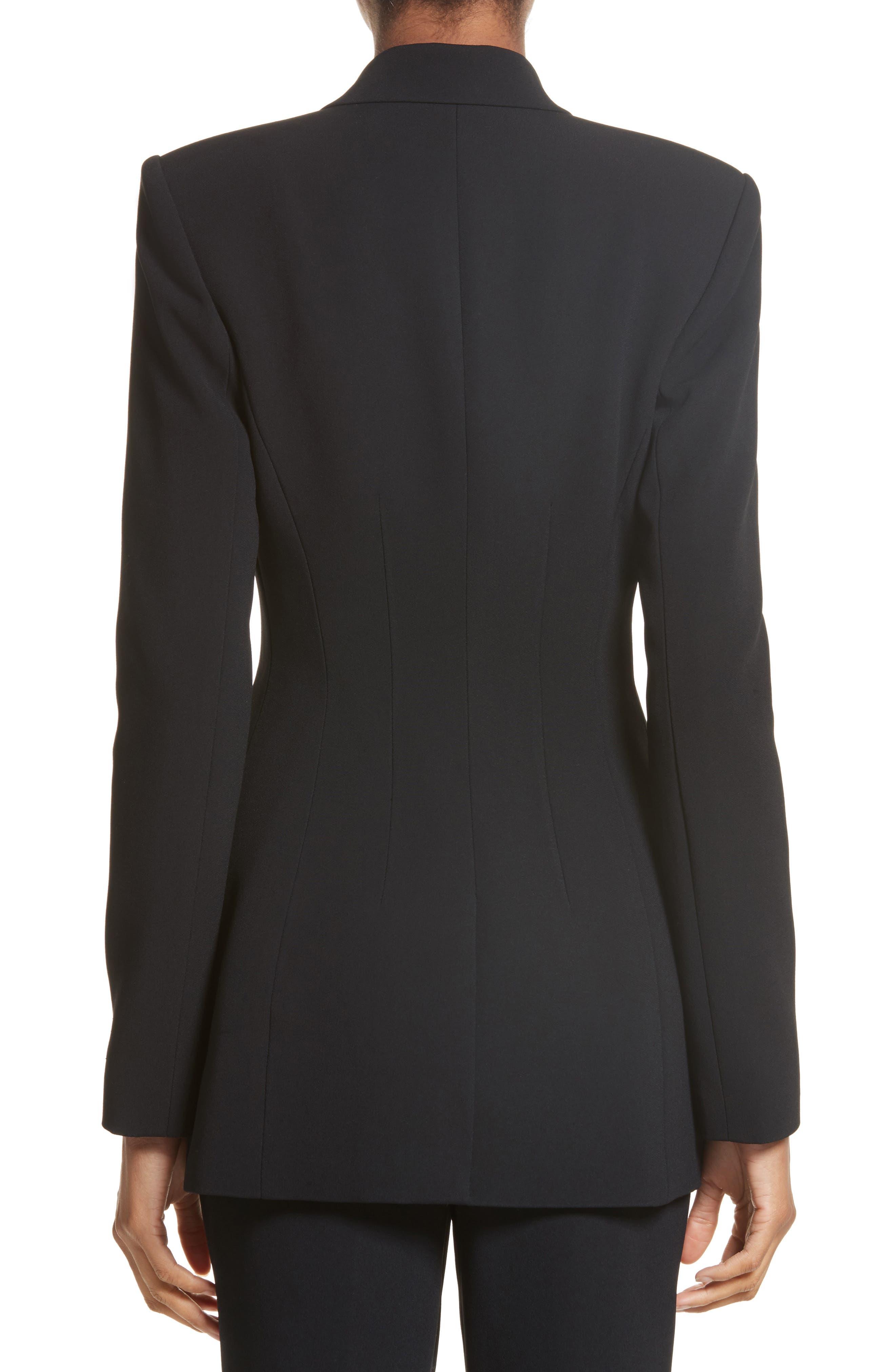 Multi Button Jacket,                             Alternate thumbnail 2, color,                             Black