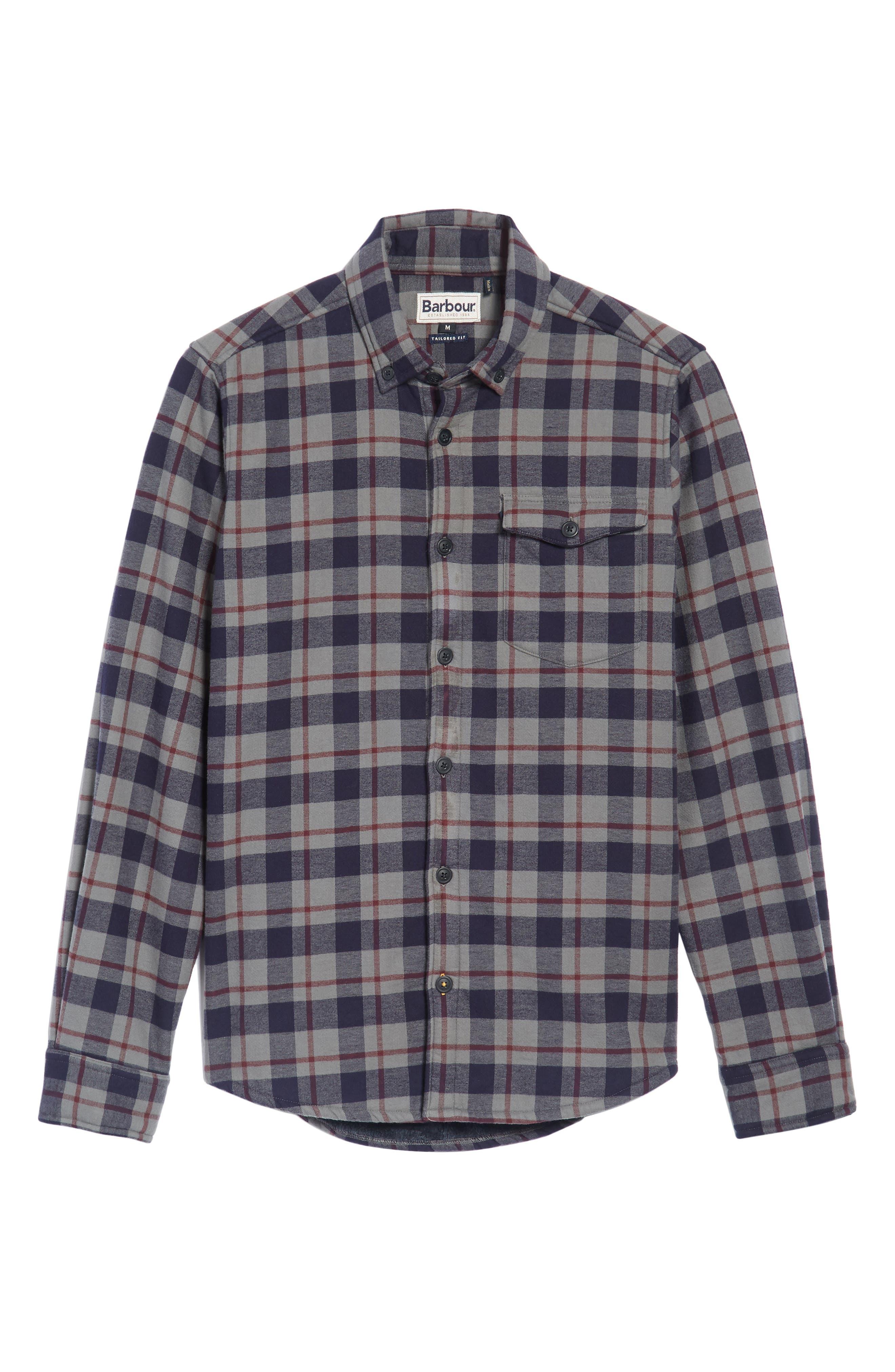 Hamilton Regular Fit Faux Fur Lined Shirt Jacket,                             Alternate thumbnail 6, color,                             Grey