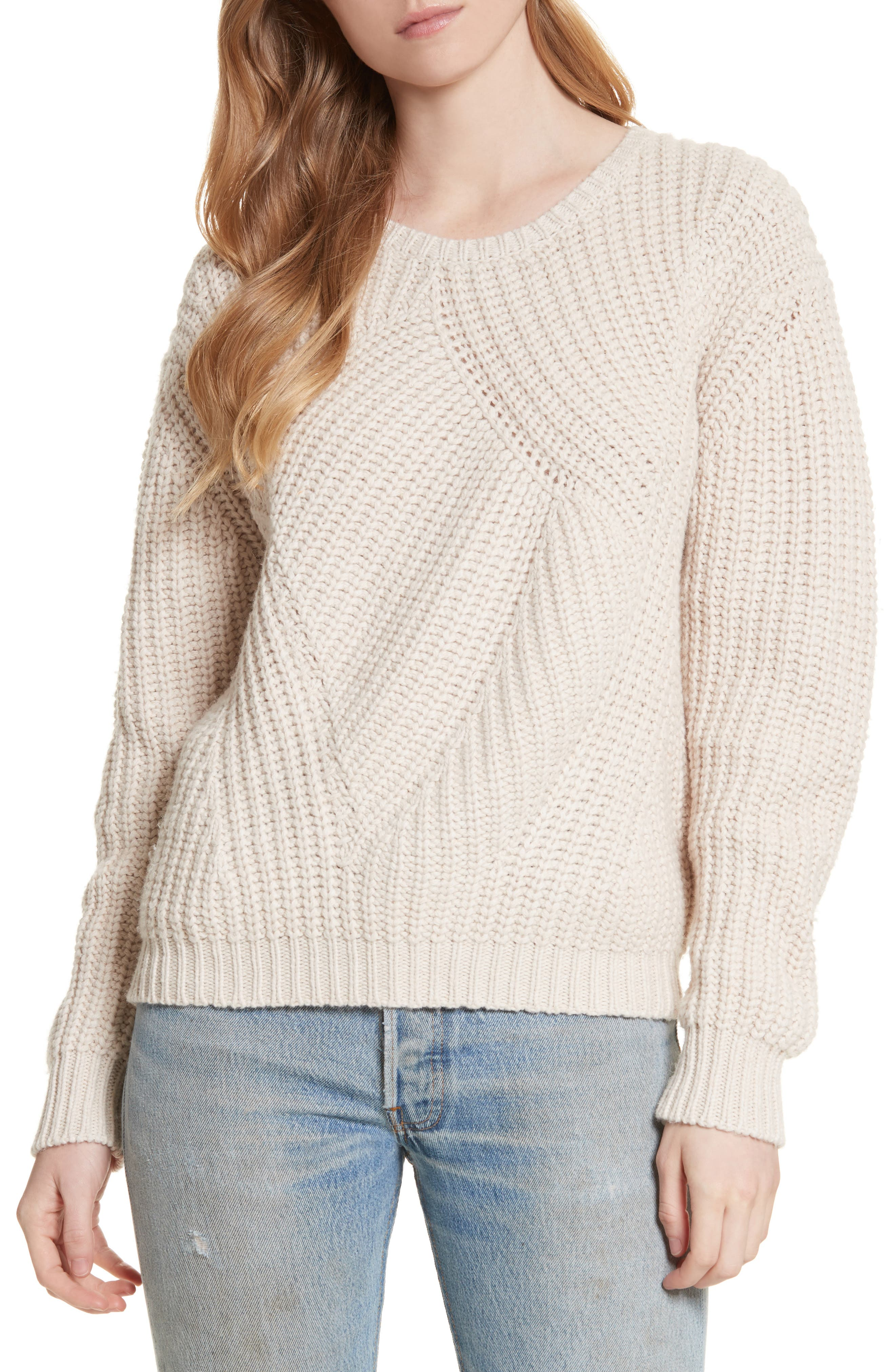 Balenne Sweater,                         Main,                         color, Light Fawn