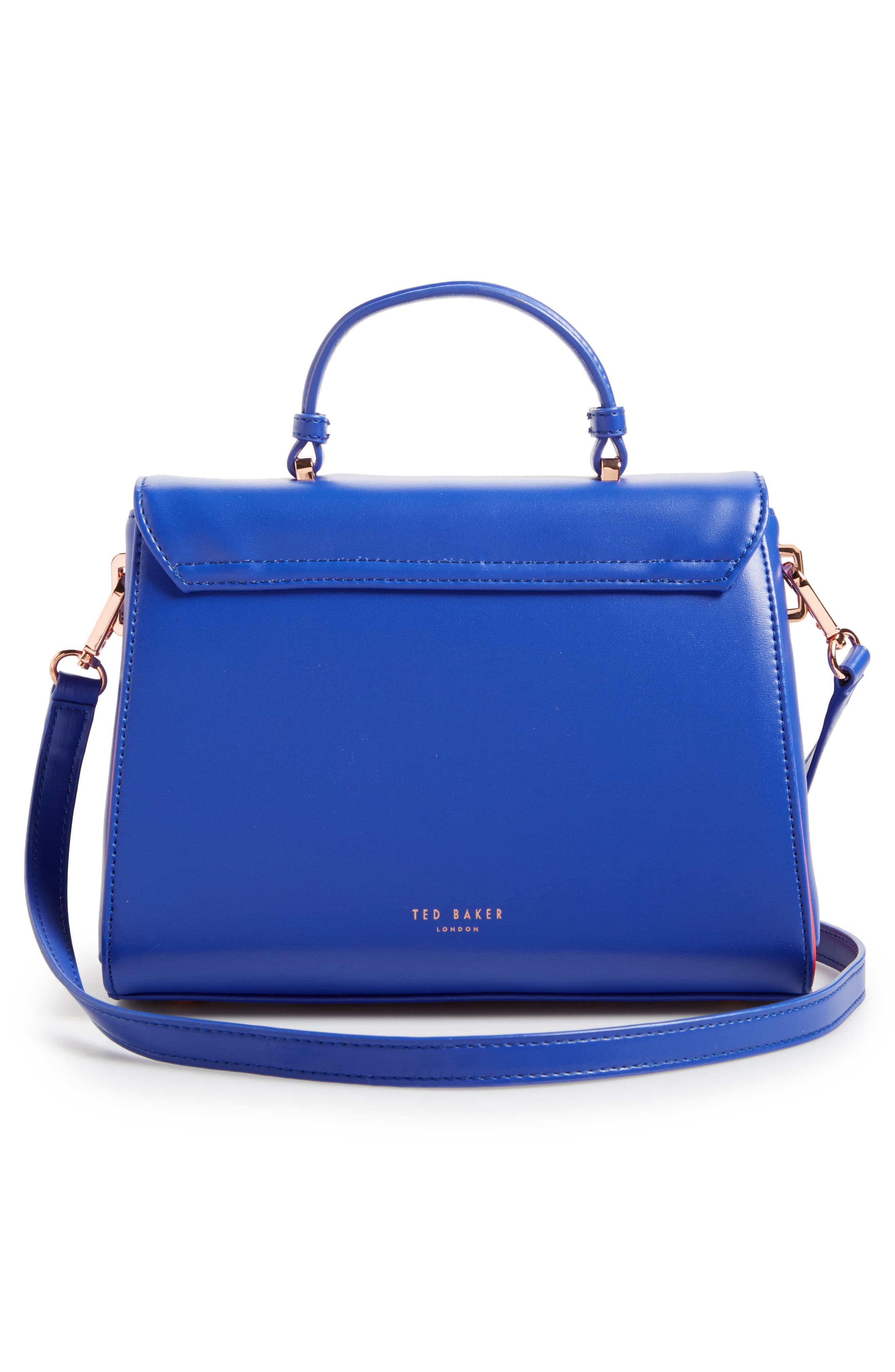 Alternate Image 2  - Ted Baker London Daisii Appliqué Faux Leather Top Handle Satchel