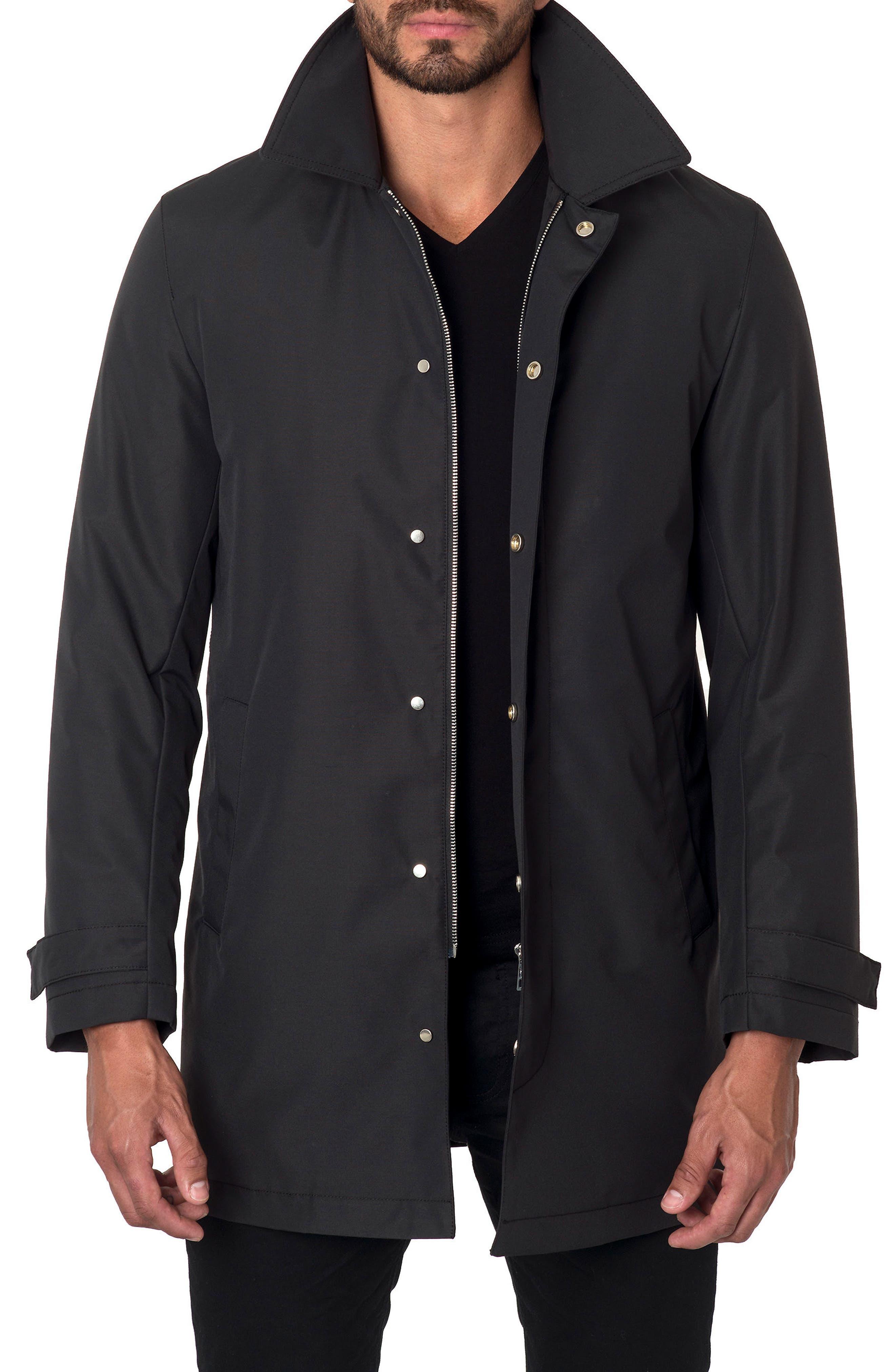 Water Repellent Jacket,                         Main,                         color, Black Cotton Tek