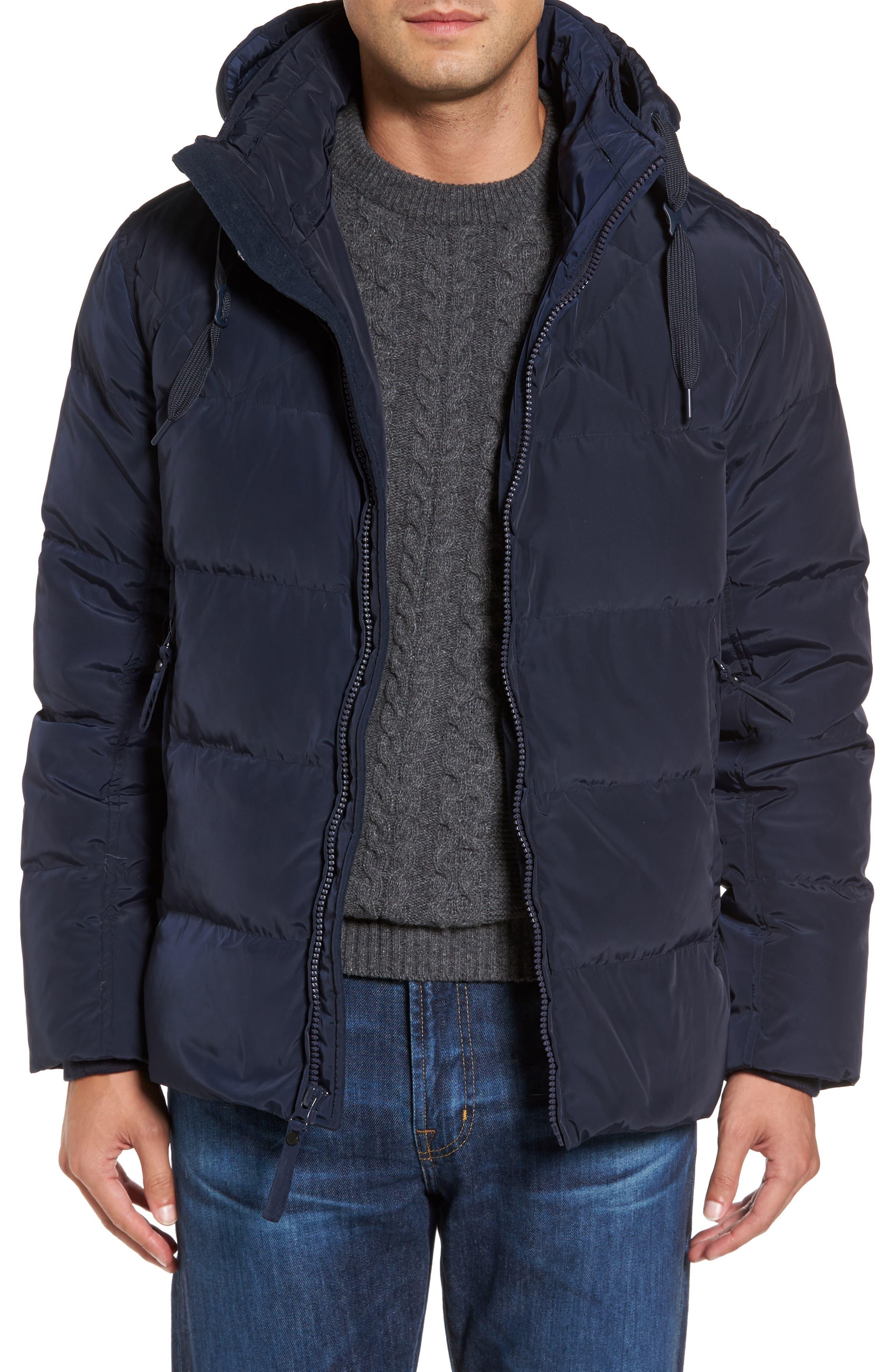Alternate Image 4  - Marc New York Navan Quilted Down Jacket with Genuine Rabbit Fur Trim