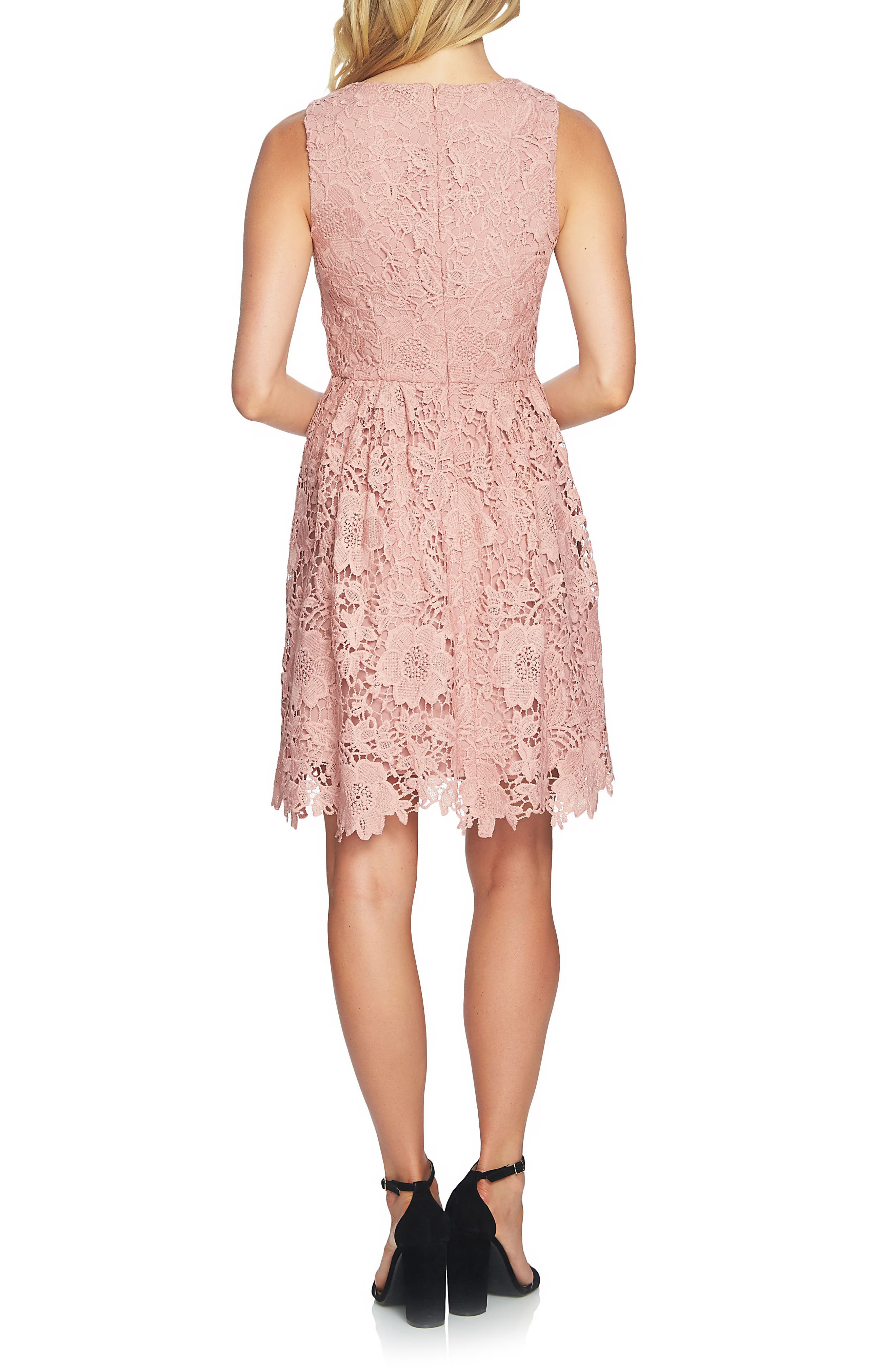 Alternate Image 2  - CeCe Claiborne Lace A-Line Dress