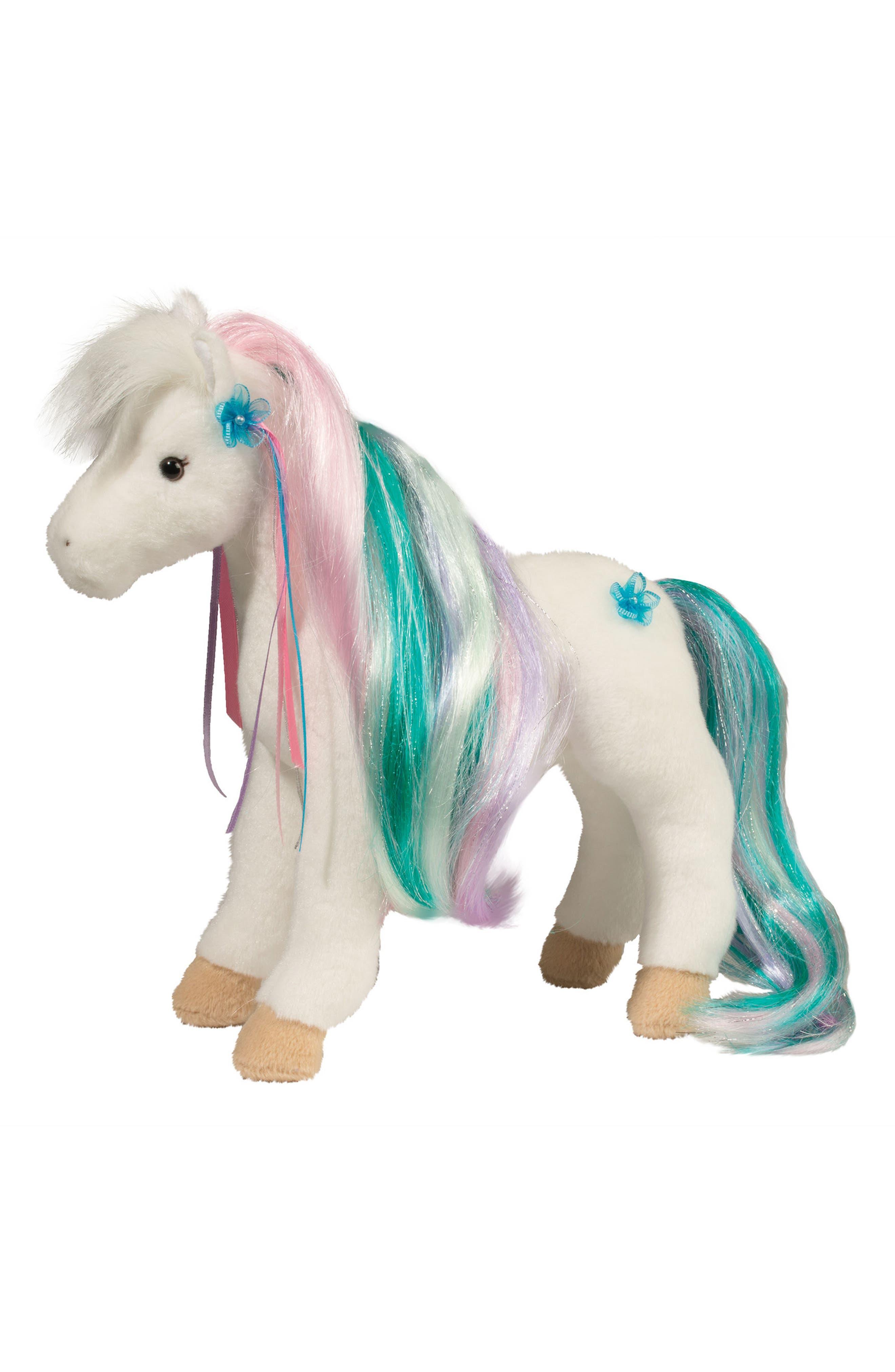 Douglas Rainbow Princess Horse Stuffed Animal