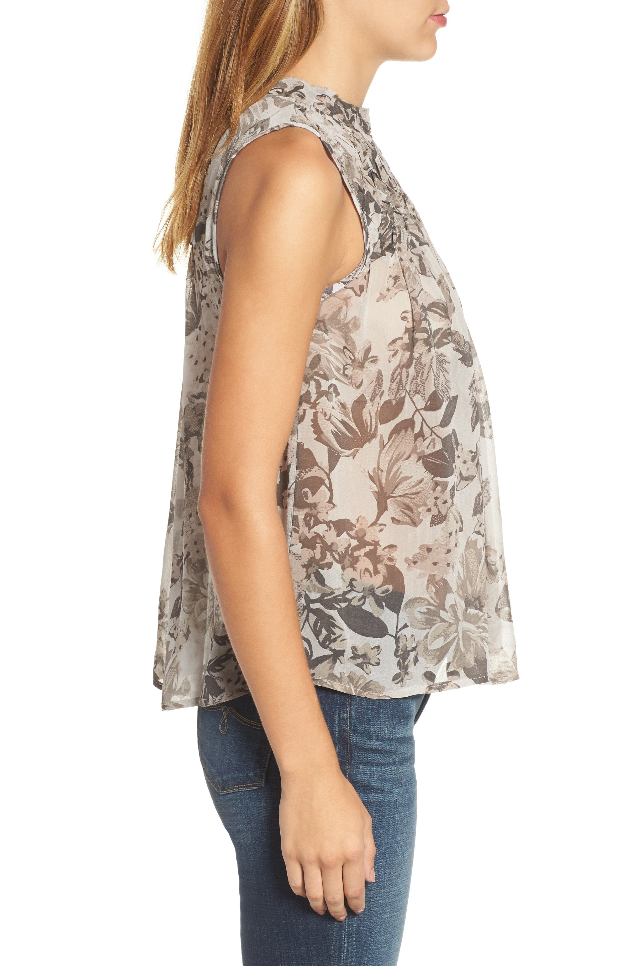Alternate Image 3  - Lucky Brand Floral Mock Neck Tank Top