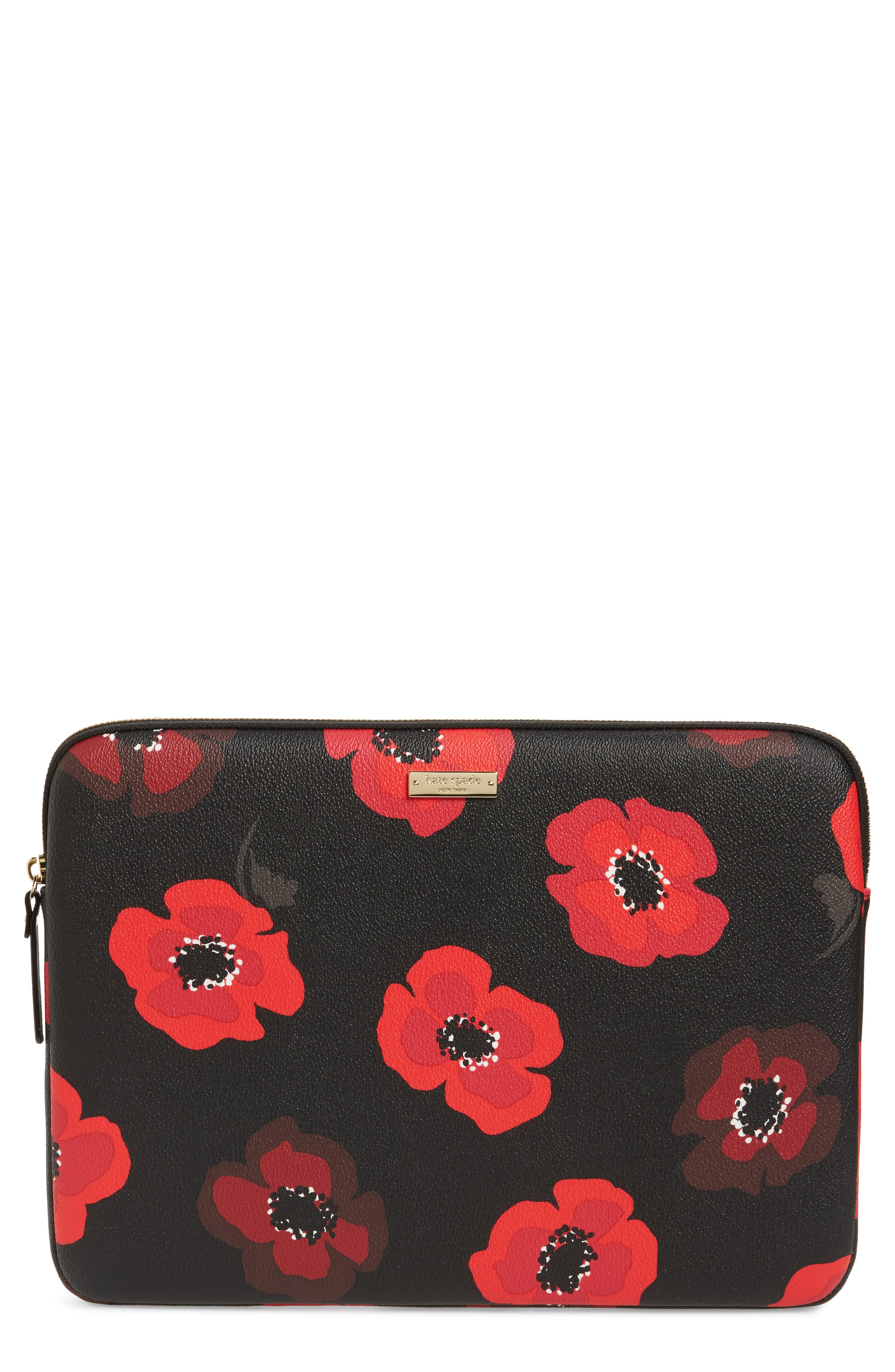 Alternate Image 1 Selected - kate spade new york poppy 13-inch laptop sleeve