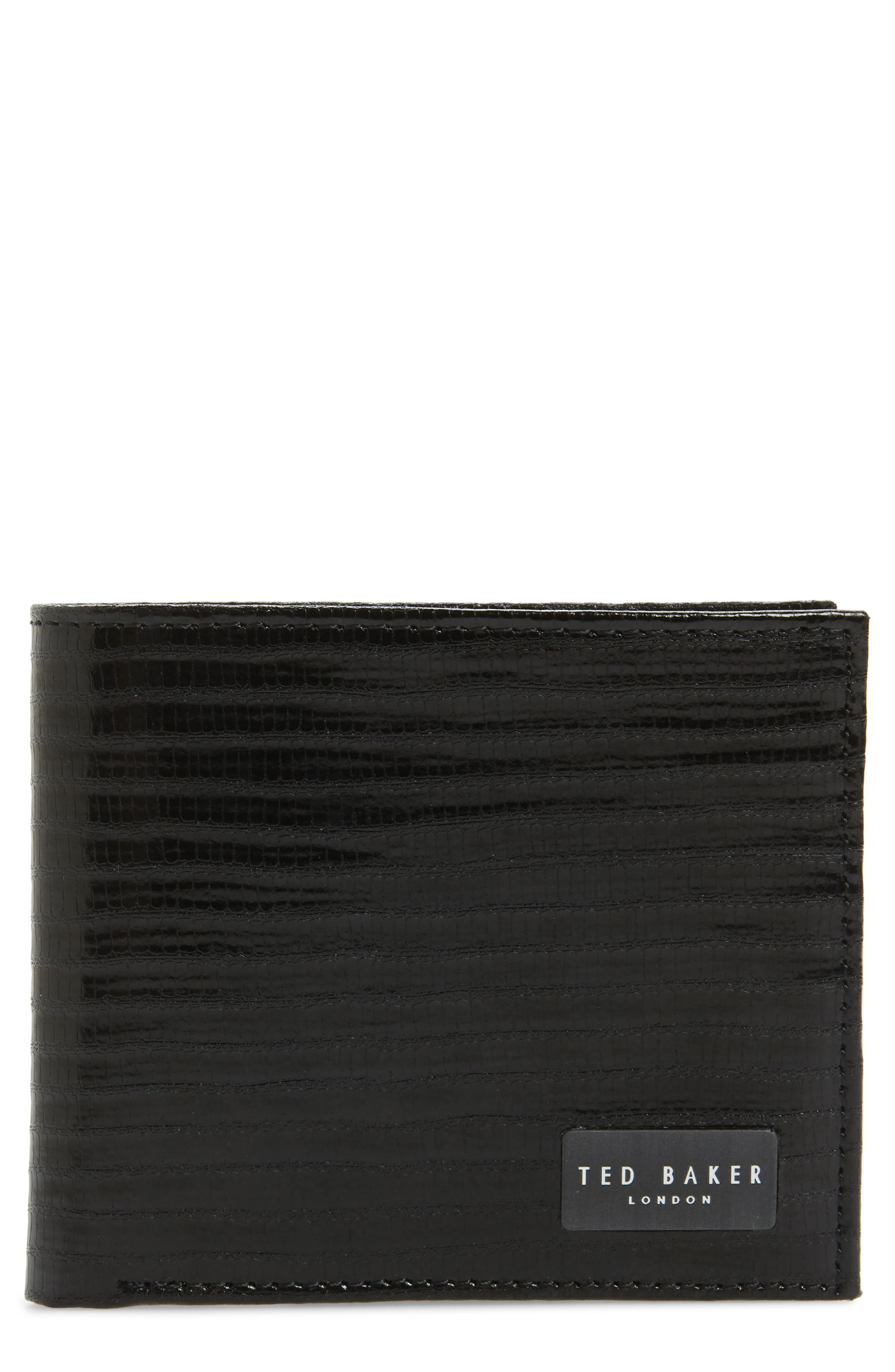 Slayts Leather Wallet,                             Main thumbnail 1, color,                             Black