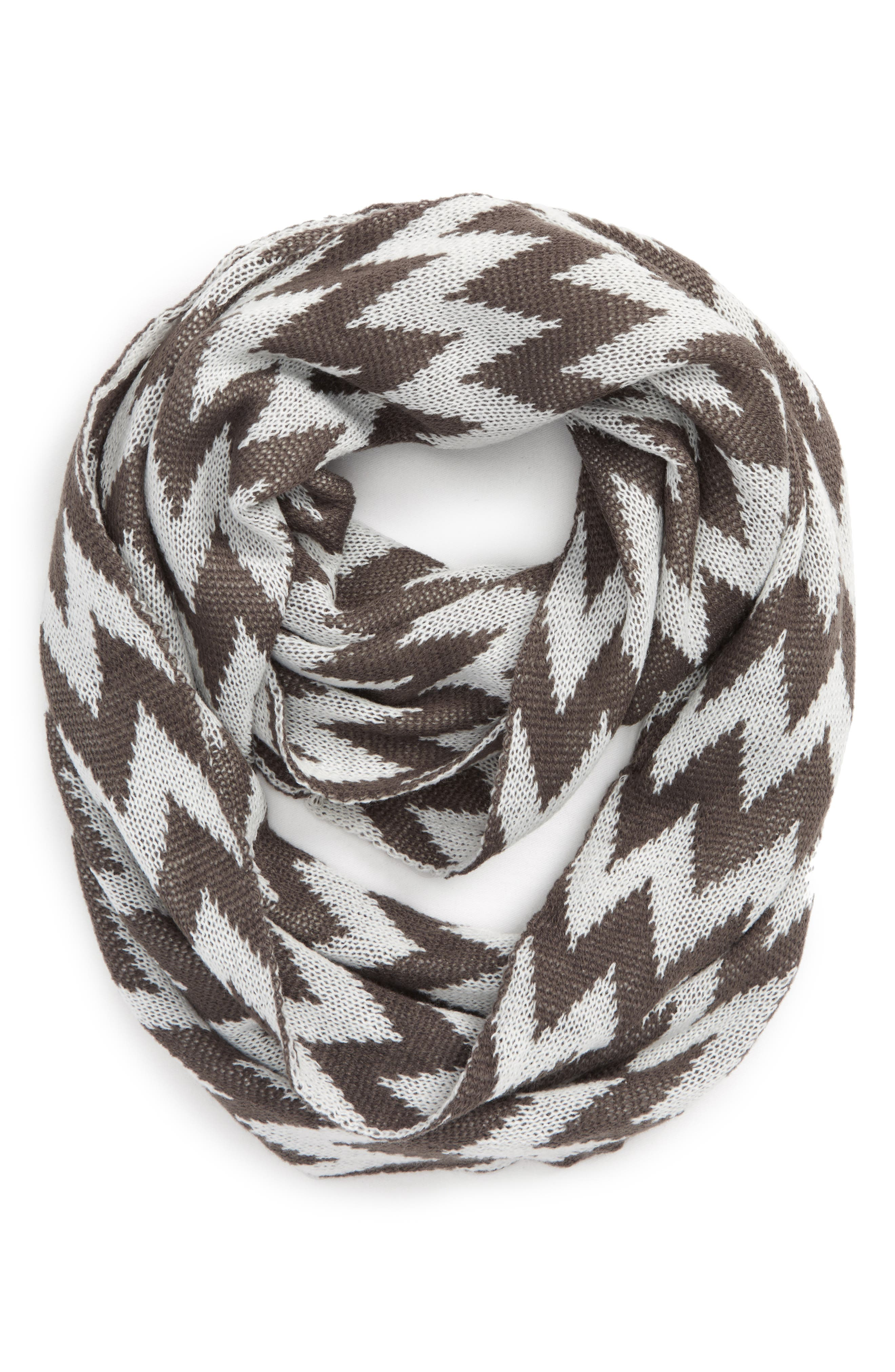 Accessory Collective Chevron Knit Infinity Scarf